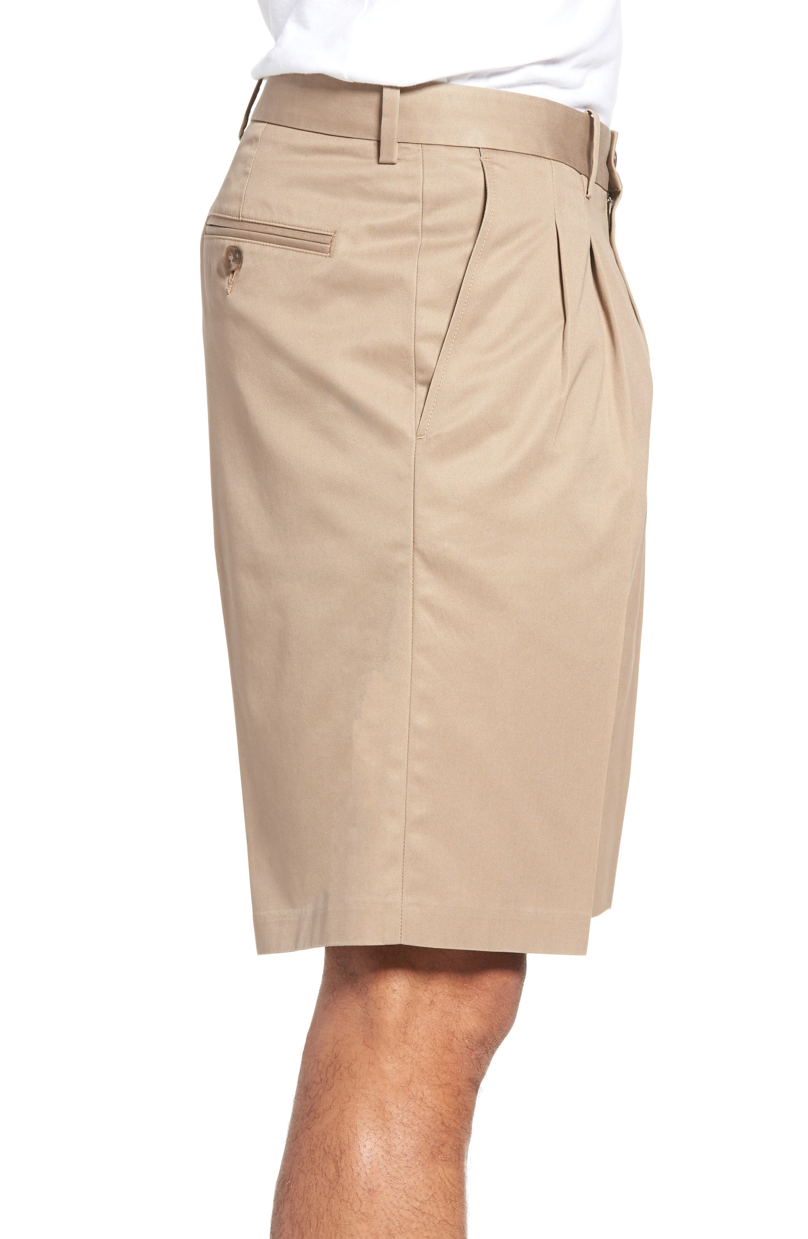 Pleated Supima<sup>®</sup> Cotton Shorts,                             Alternate thumbnail 13, color,