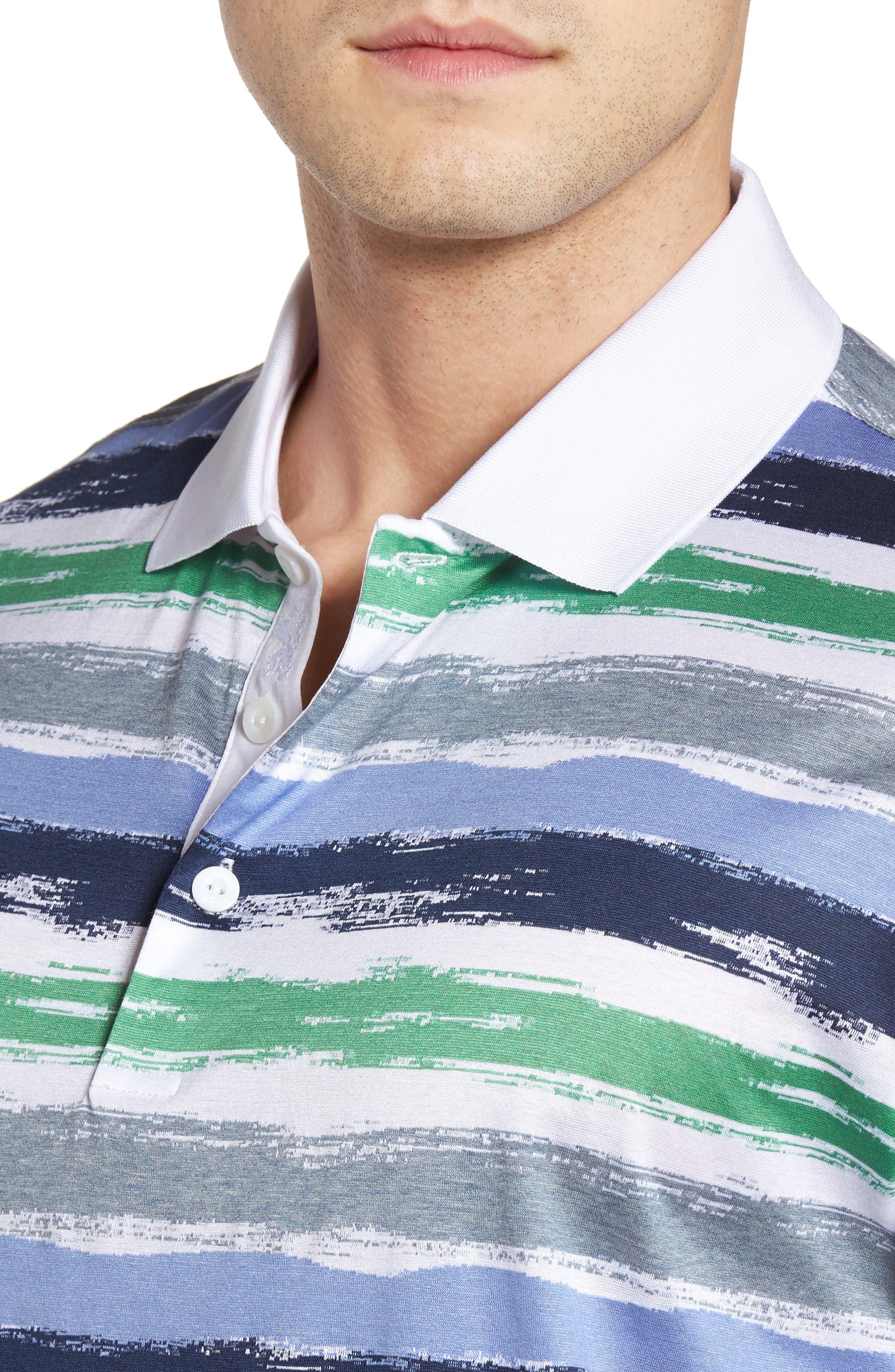 Brushstroke Stripe Polo,                             Alternate thumbnail 4, color,