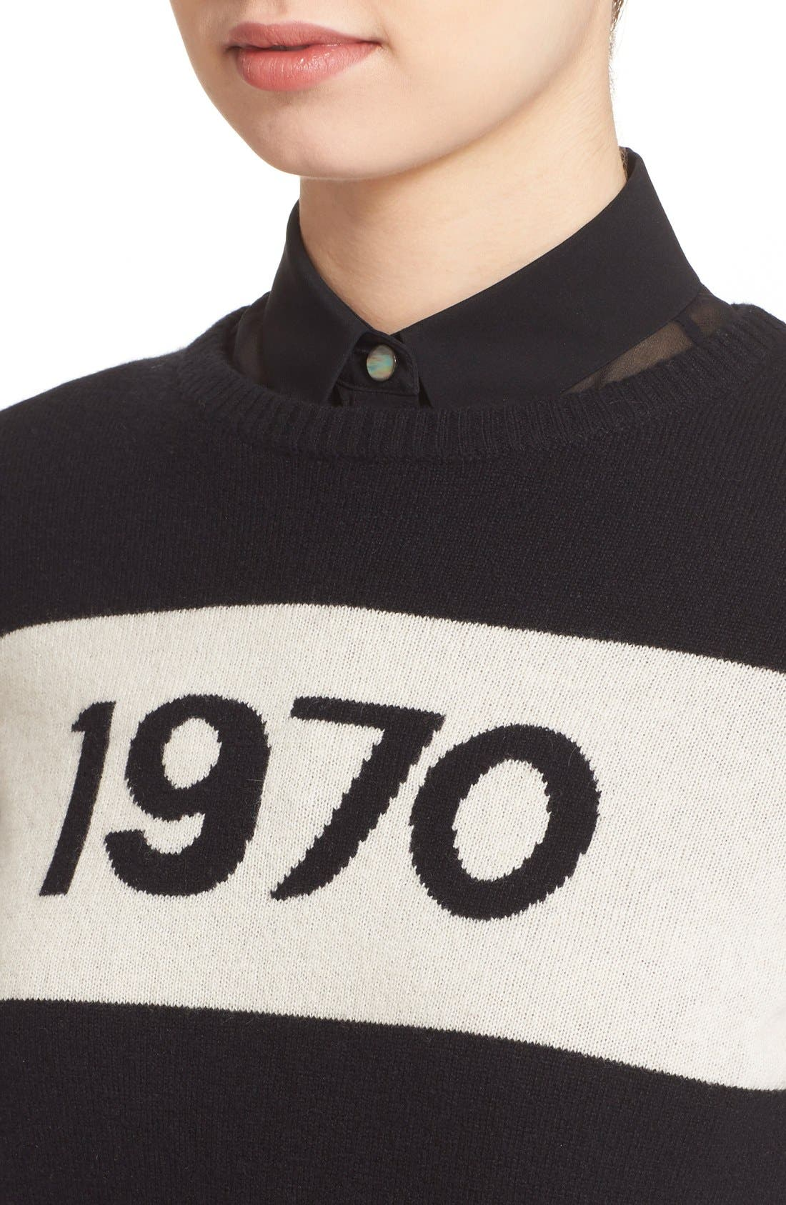 '1970' Wool Sweater,                             Alternate thumbnail 3, color,                             001
