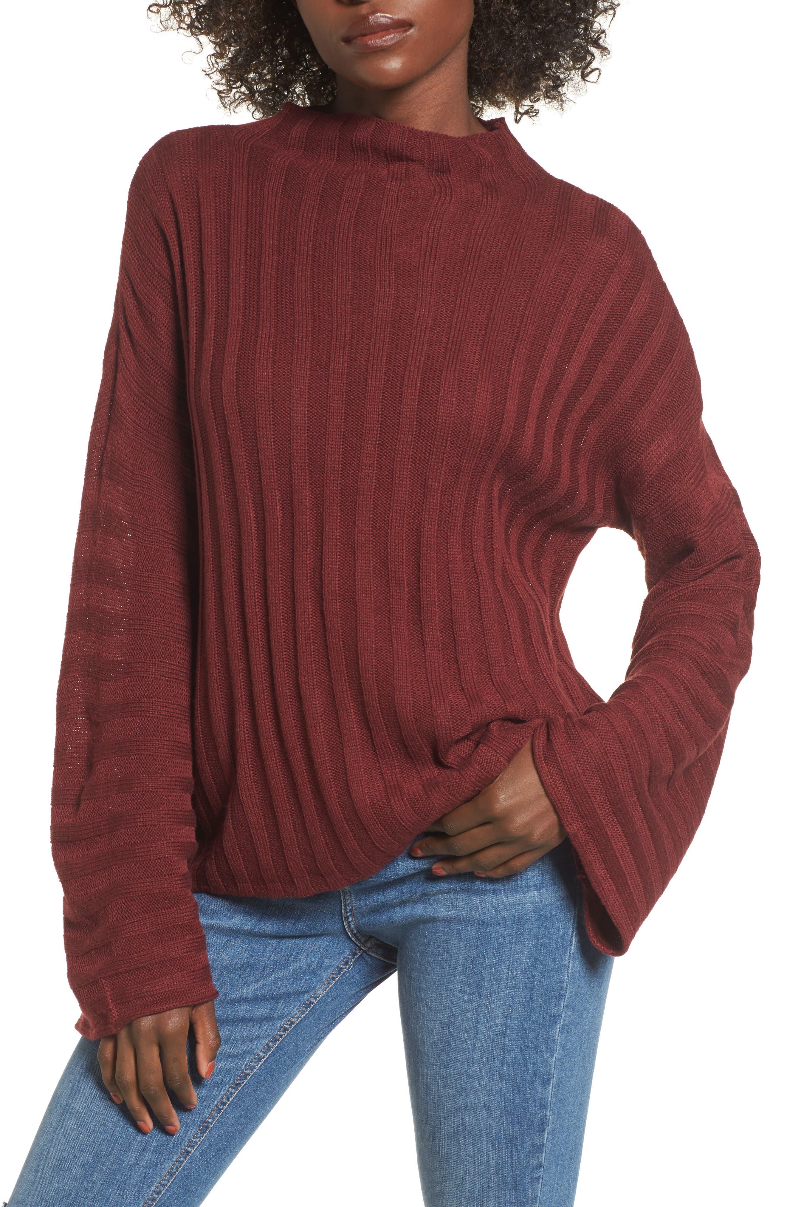 Wide Rib Mock Neck Sweater,                             Main thumbnail 3, color,
