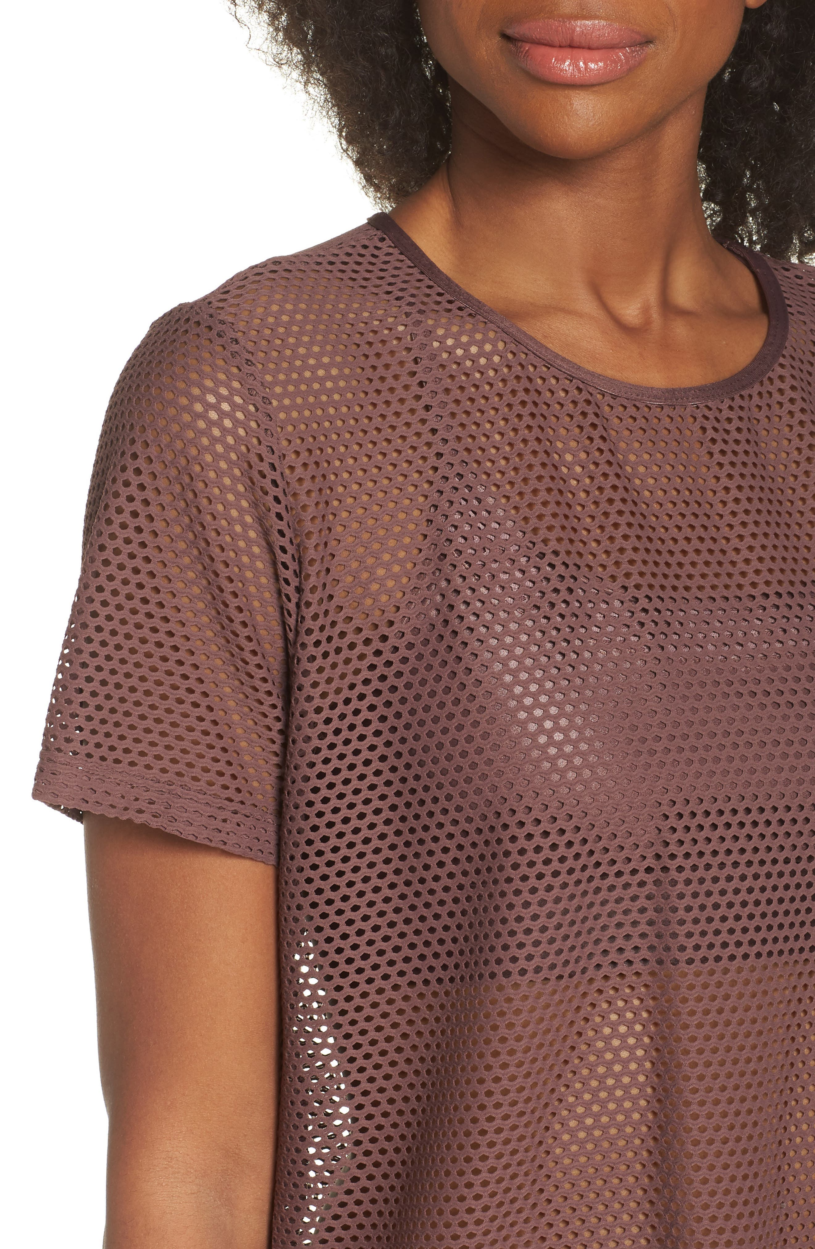 Size Up Mesh Tee,                             Alternate thumbnail 4, color,                             530