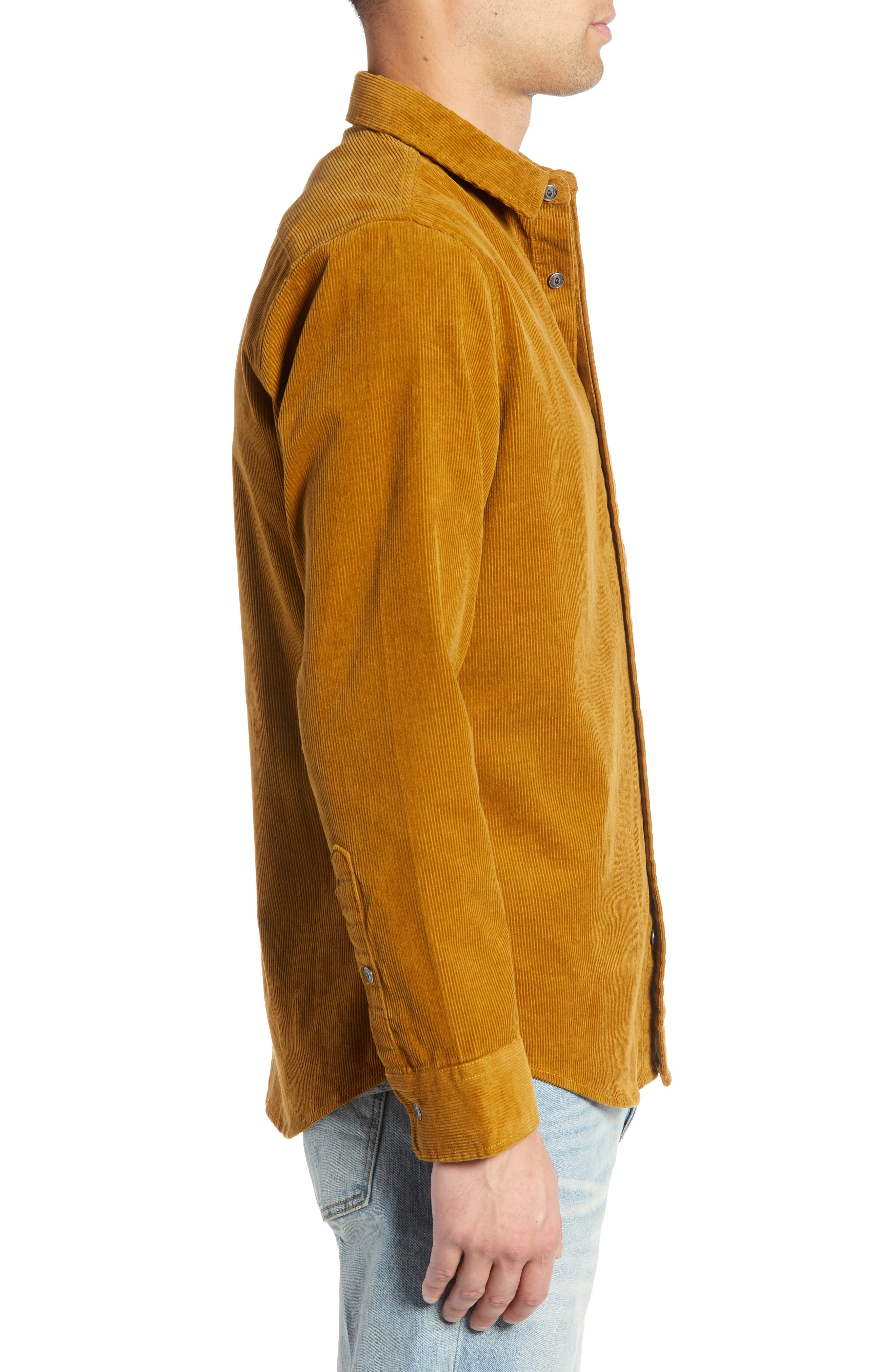 Regular Fit Corduroy Shirt Jacket,                             Alternate thumbnail 4, color,                             BROWN BRONZE