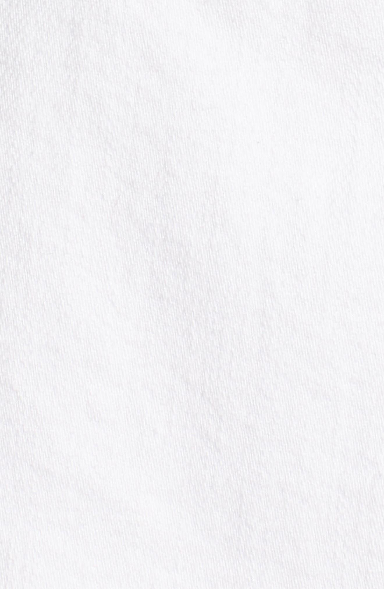 Fray Hem Denim Skirt,                             Alternate thumbnail 6, color,                             100