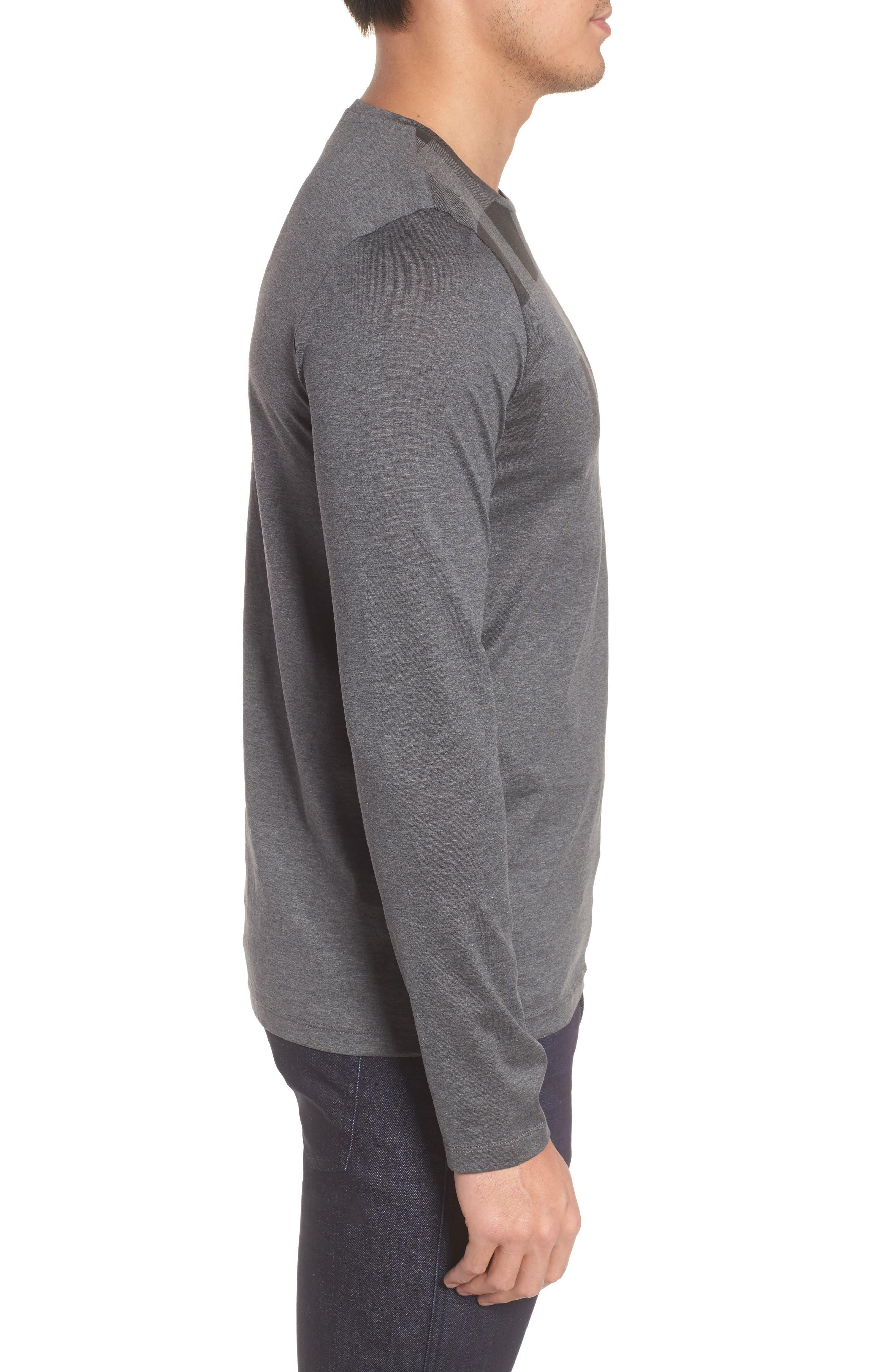Tenison Slim Fit Ombre Check Long Sleeve T-shirt,                             Alternate thumbnail 3, color,                             030