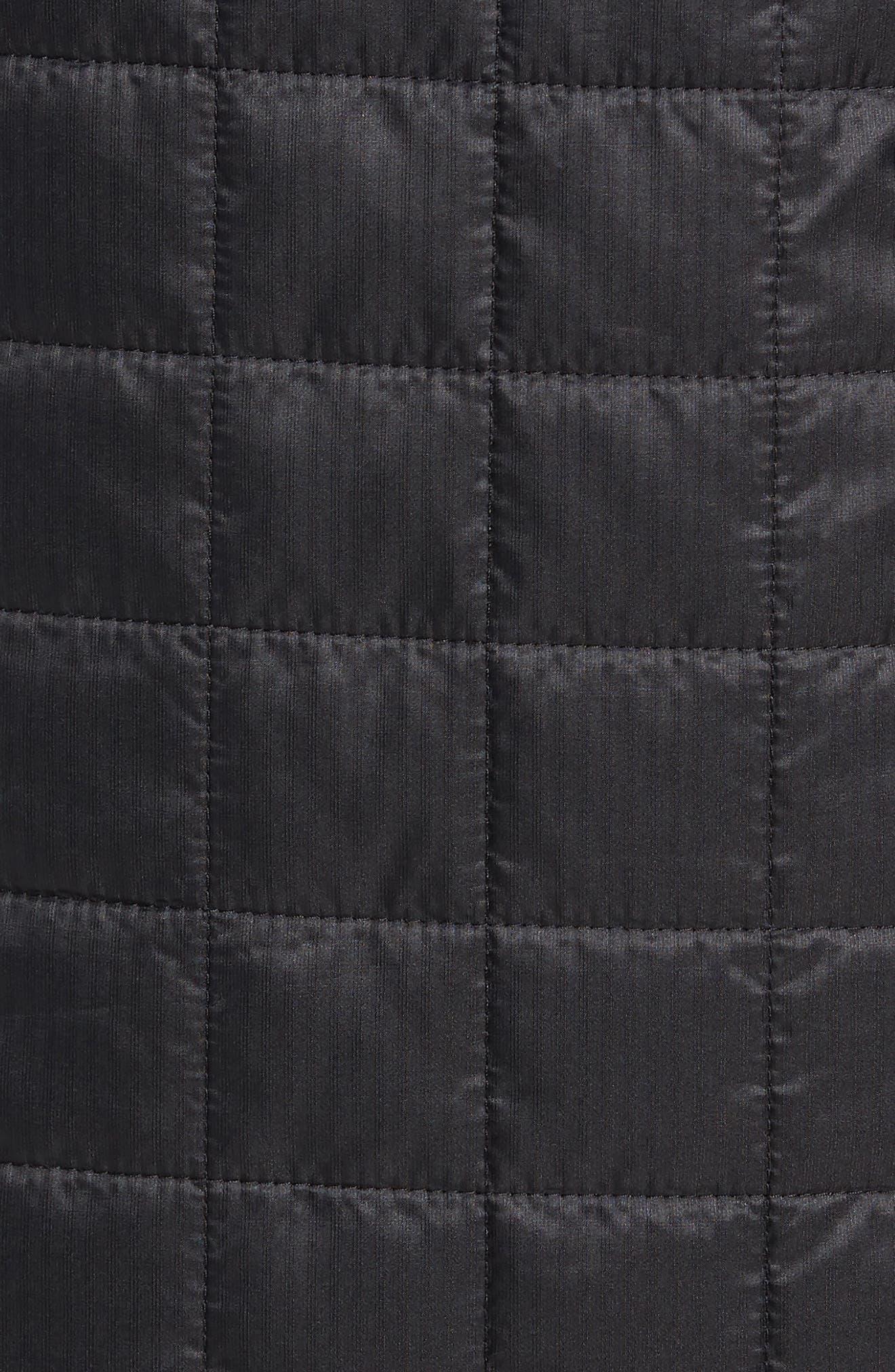 MerinoLOFT<sup>™</sup> Helix Midlayer Zip Jacket,                             Alternate thumbnail 7, color,                             BLACK/ JET HEATHER