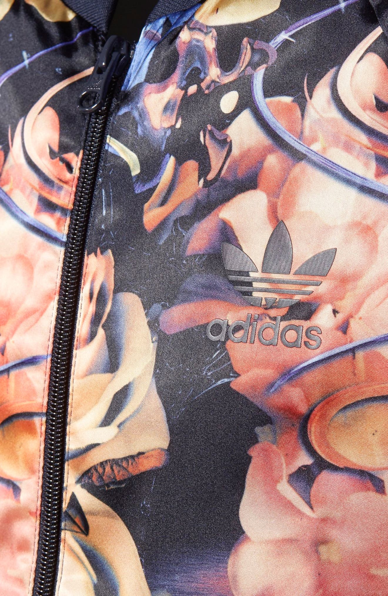 Rose Print Superstar Jacket,                             Alternate thumbnail 7, color,                             001