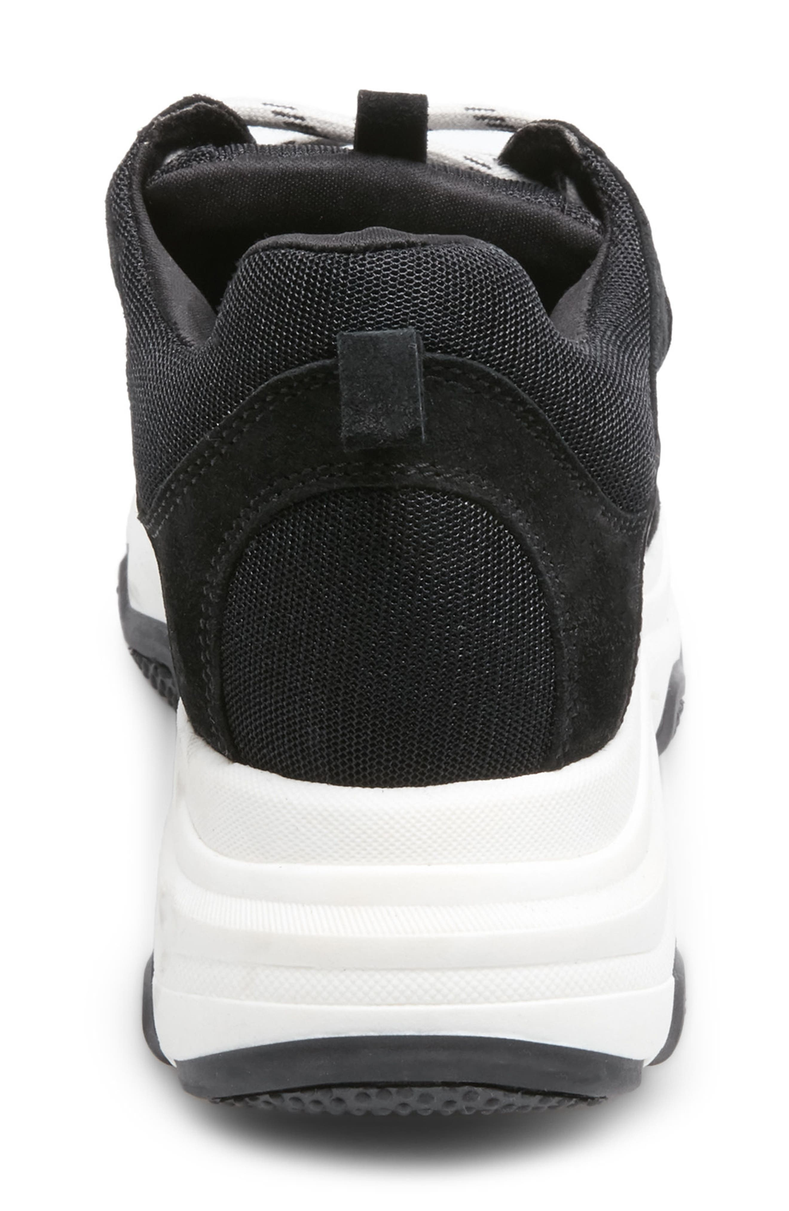 Russell Platform Sneaker,                             Alternate thumbnail 5, color,                             BLACK LEATHER