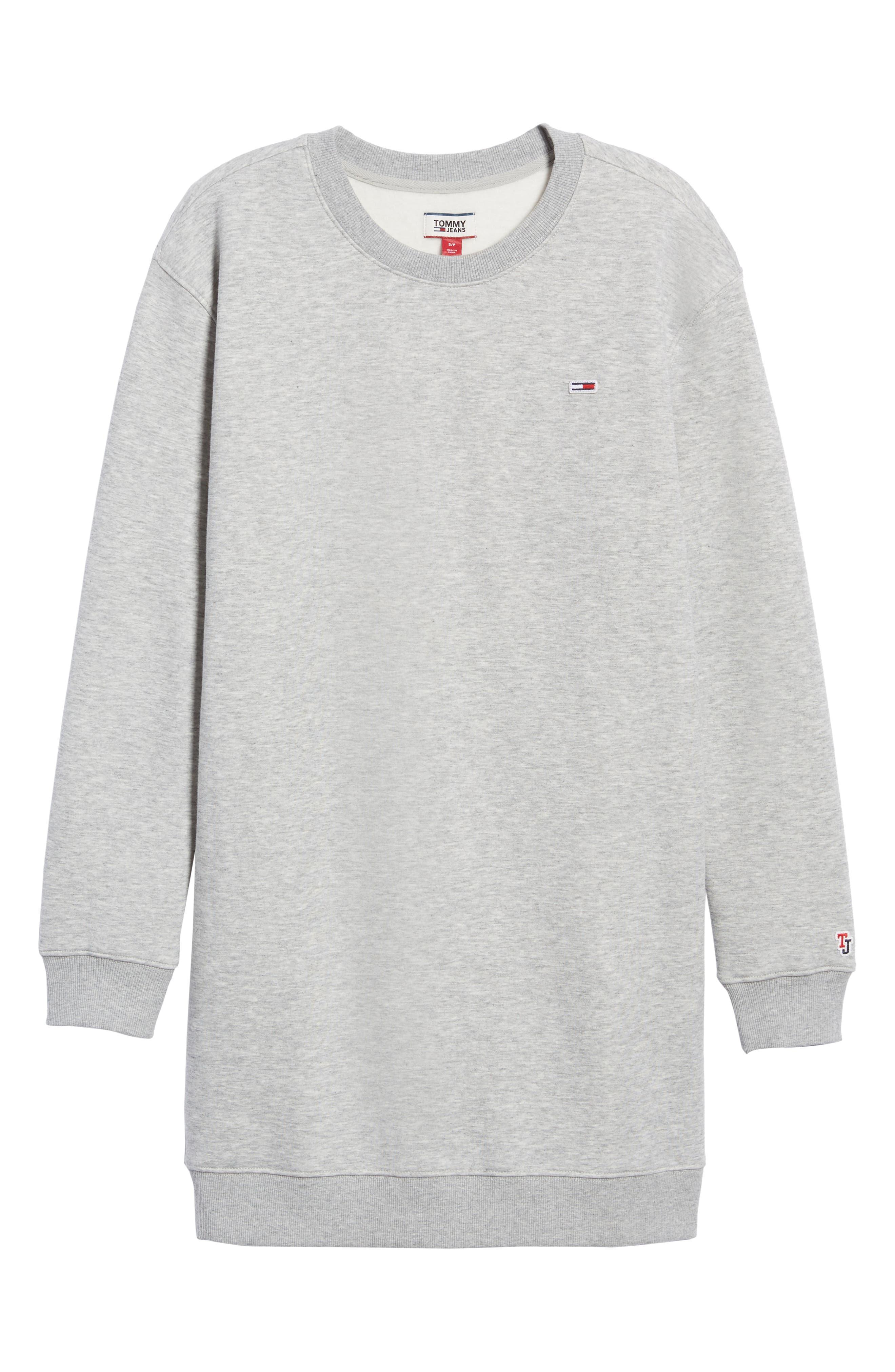 Classic Sweatshirt Dress,                             Alternate thumbnail 7, color,                             LT GREY HEATHER