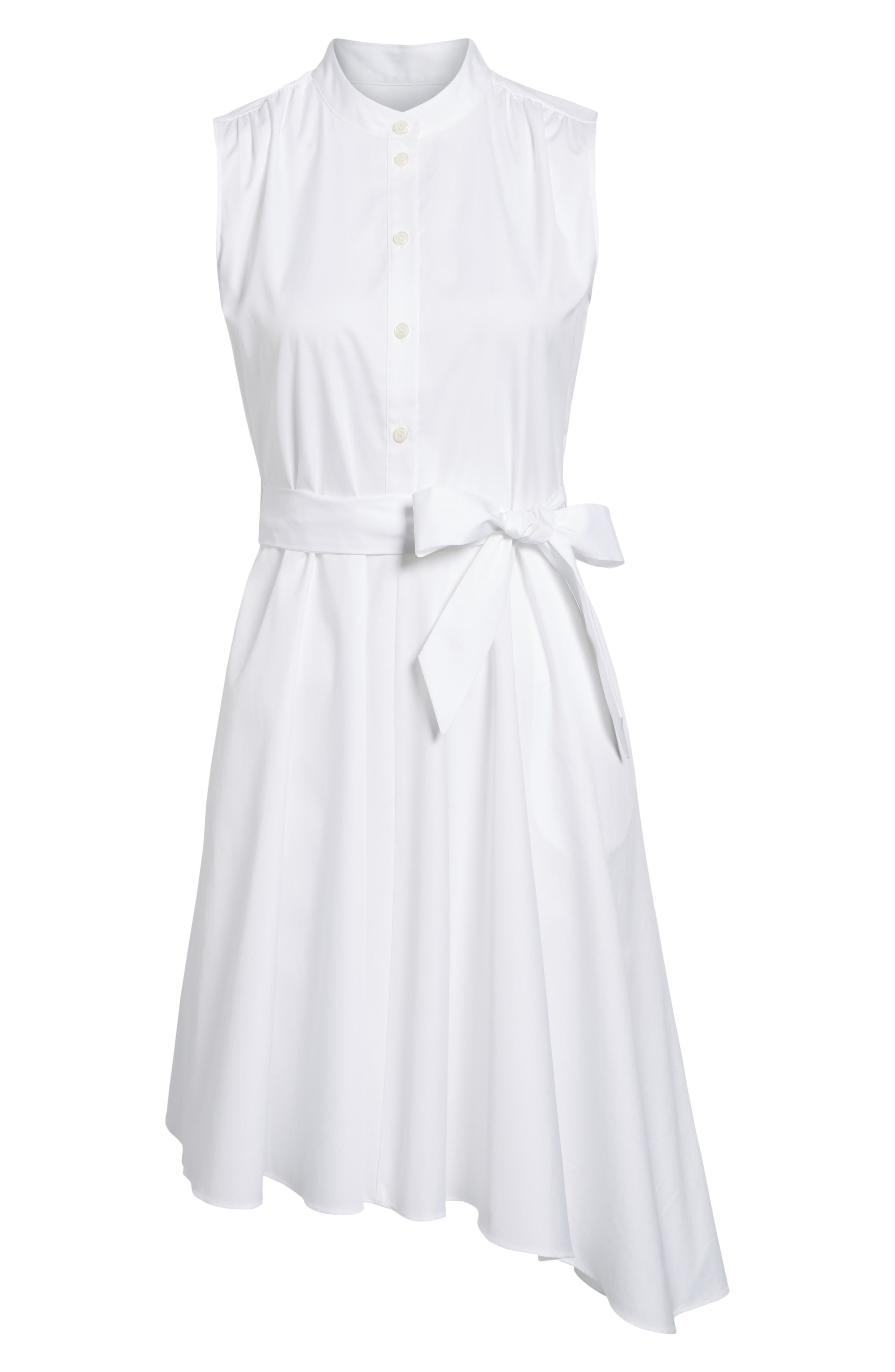 Asymmetrical Shirtdress,                             Alternate thumbnail 6, color,                             100