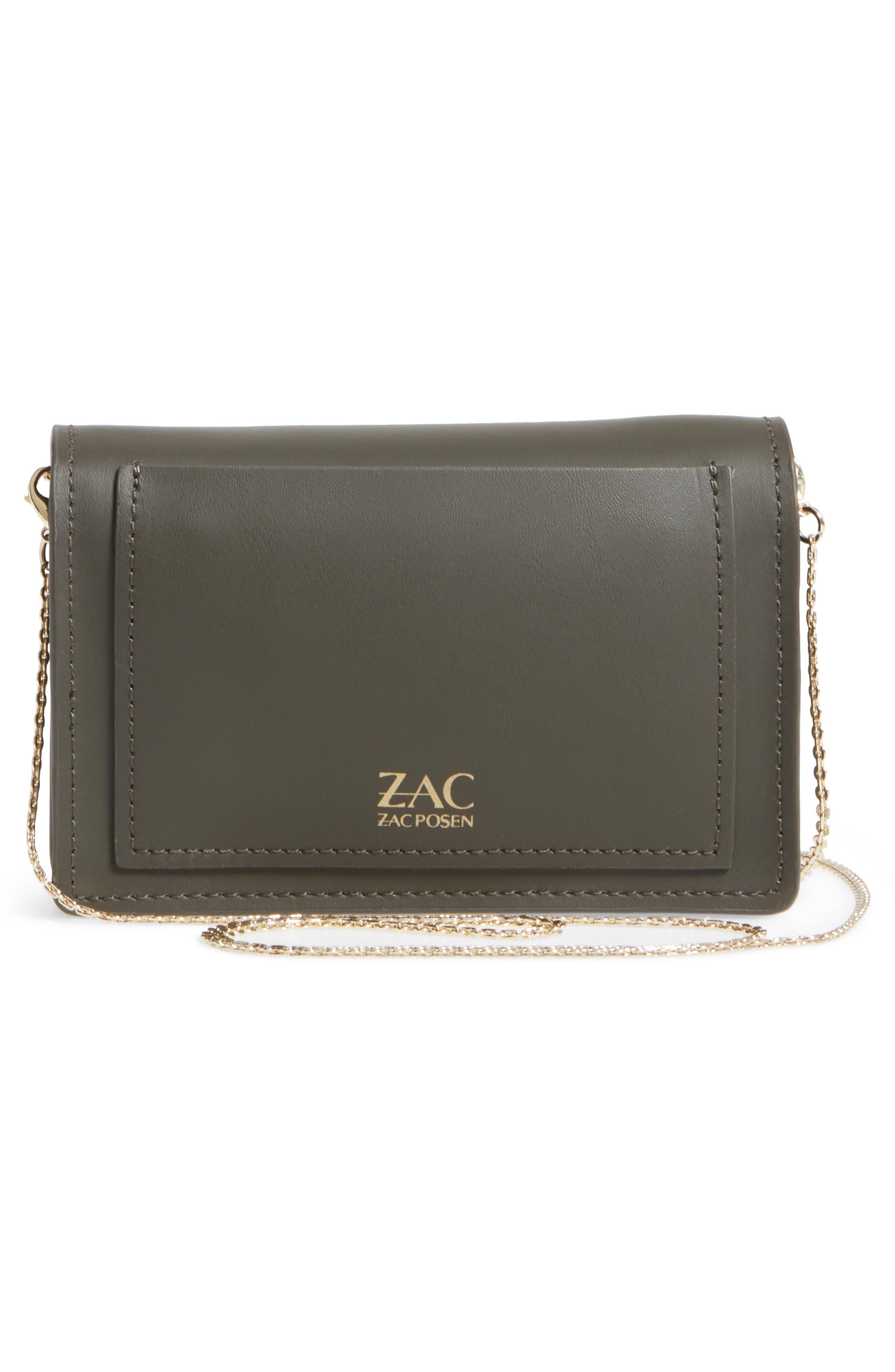 ZAC Zac Posen Earthette Leather Accordion Bag,                             Alternate thumbnail 3, color,                             300
