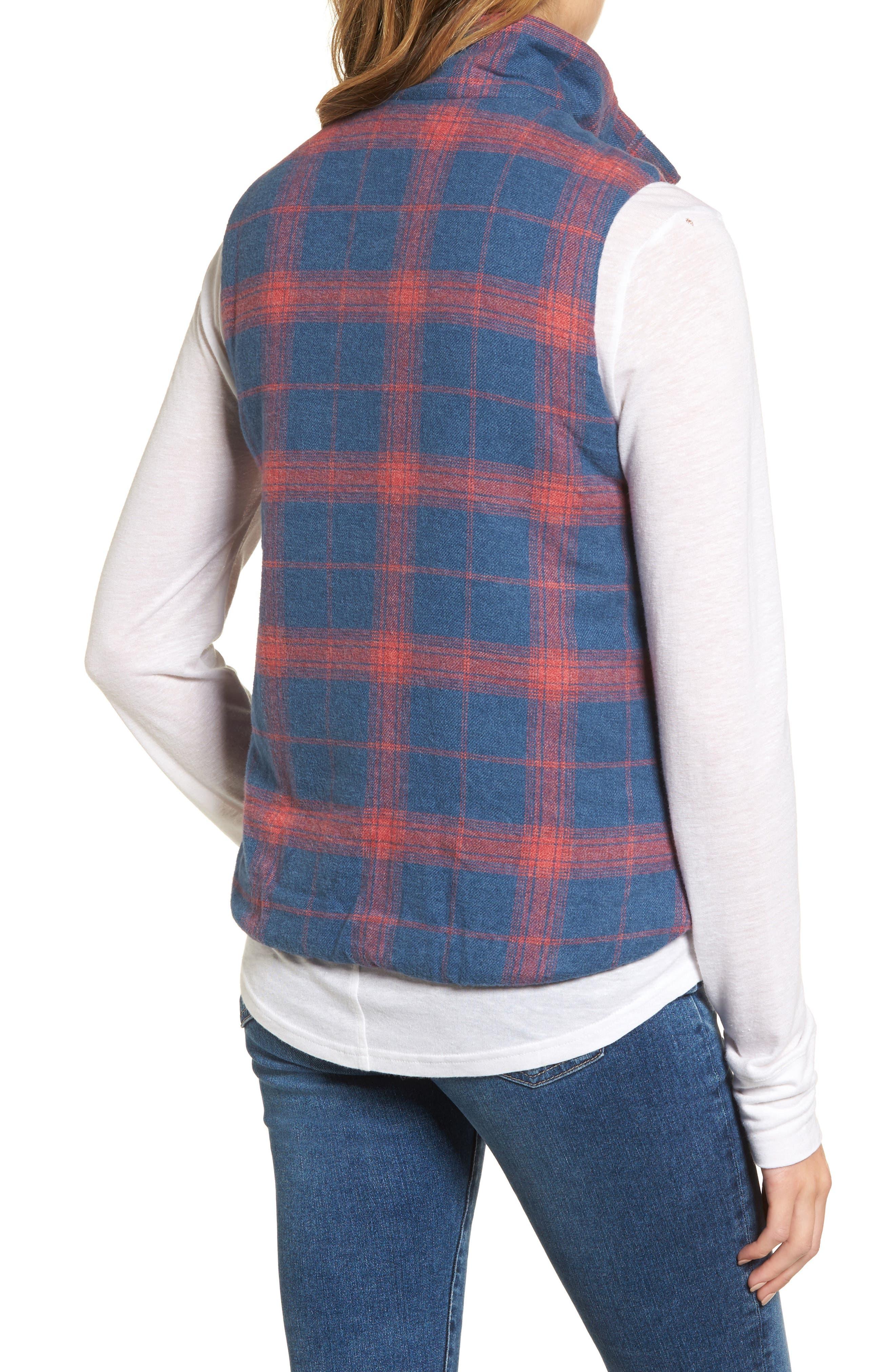 Plaid Flannel Vest,                             Alternate thumbnail 2, color,