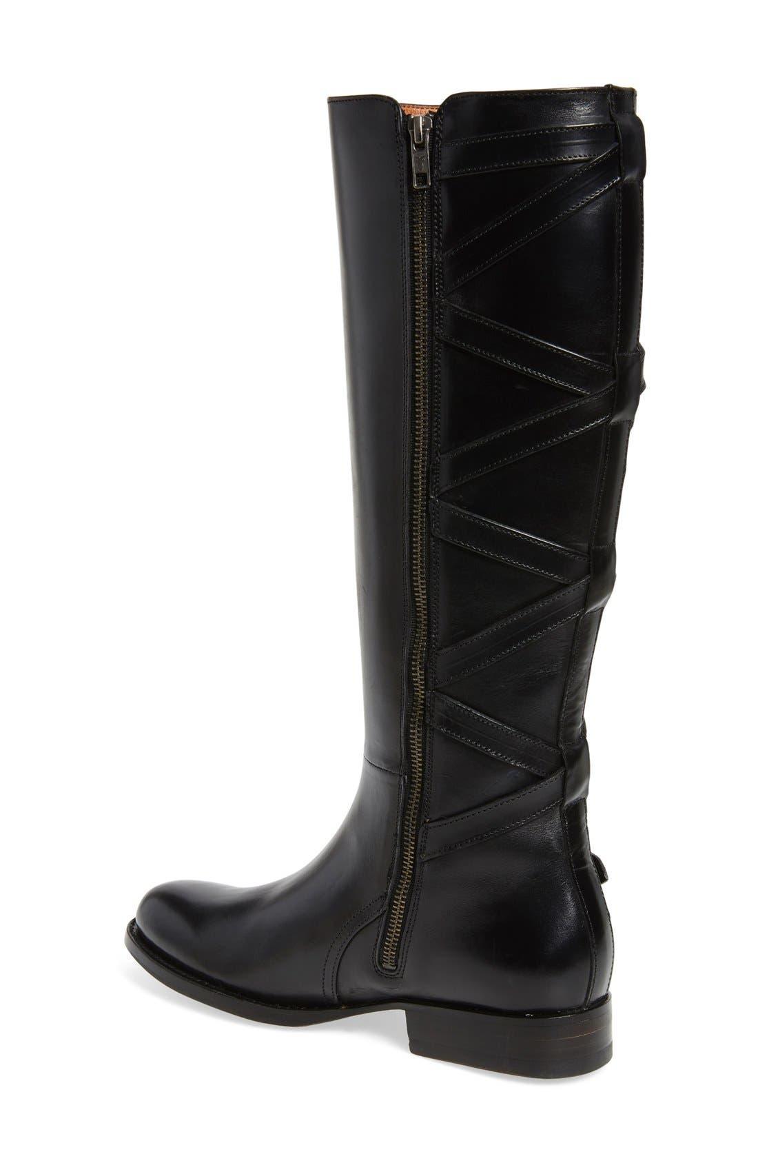 Jordan Strappy Knee High Boot,                             Alternate thumbnail 3, color,