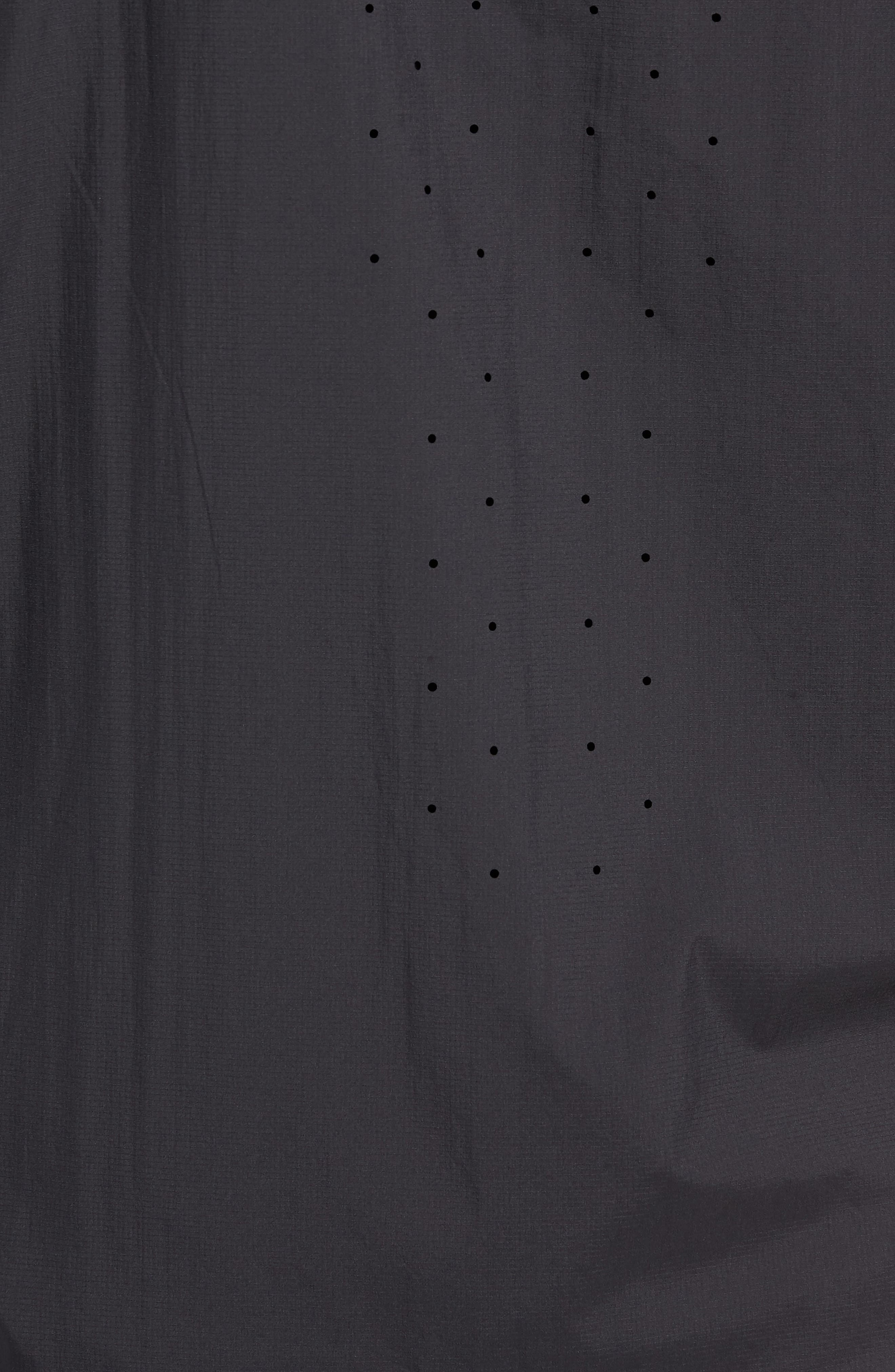 Cool-Lite<sup>™</sup> Incline Windbreaker Jacket,                             Alternate thumbnail 7, color,                             BLACK