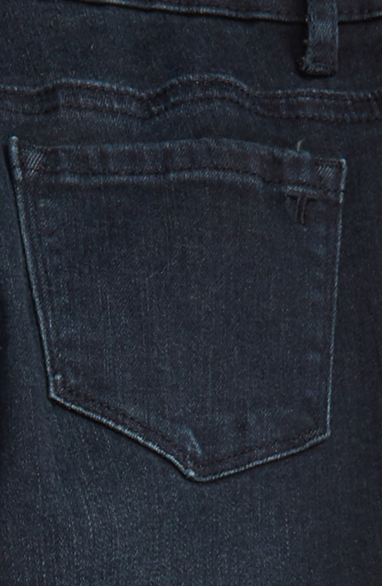 Distressed Skinny Jeans,                             Alternate thumbnail 3, color,                             INDIGO