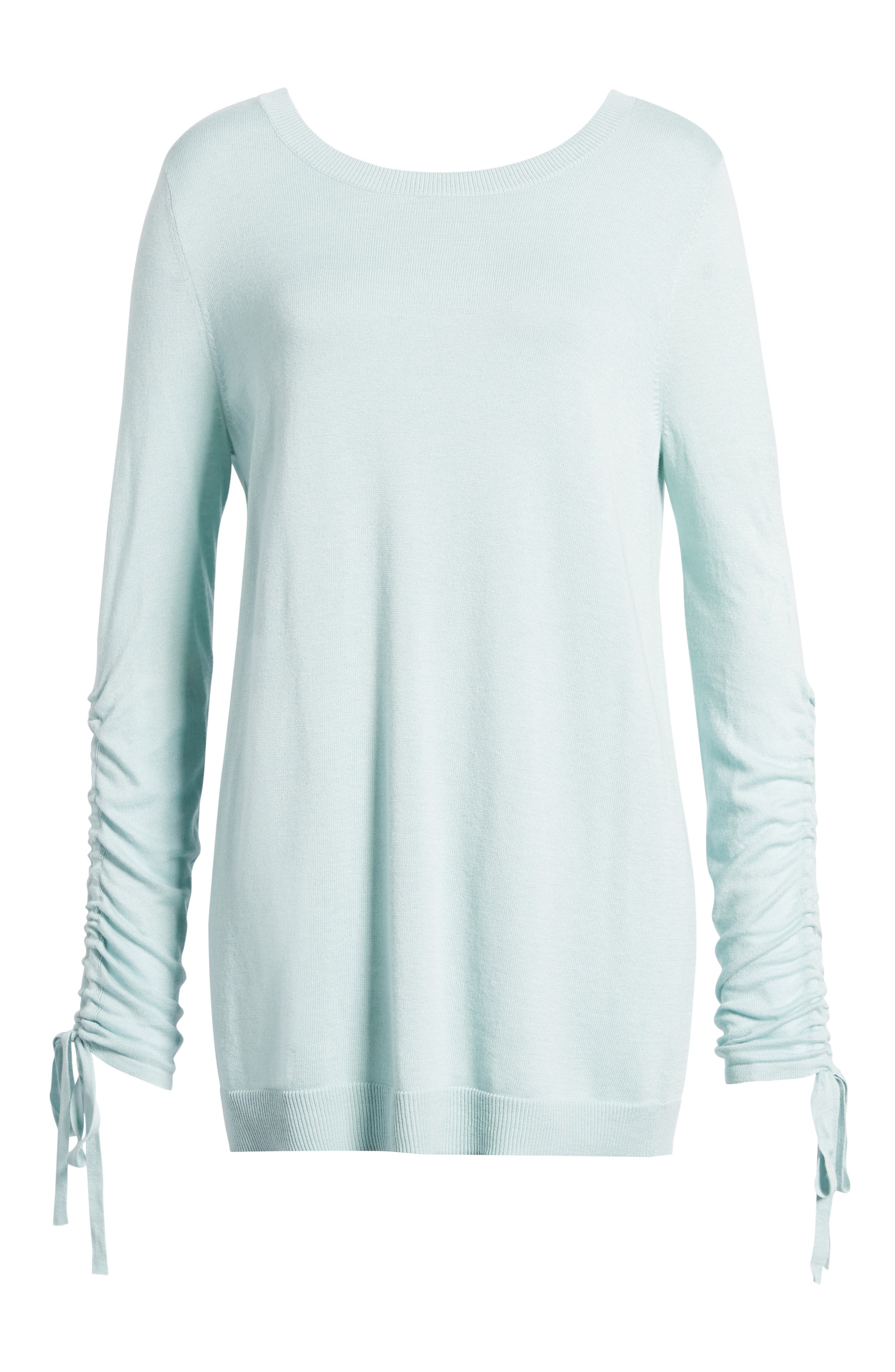 Ruched Sleeve Tunic Sweater,                             Alternate thumbnail 29, color,