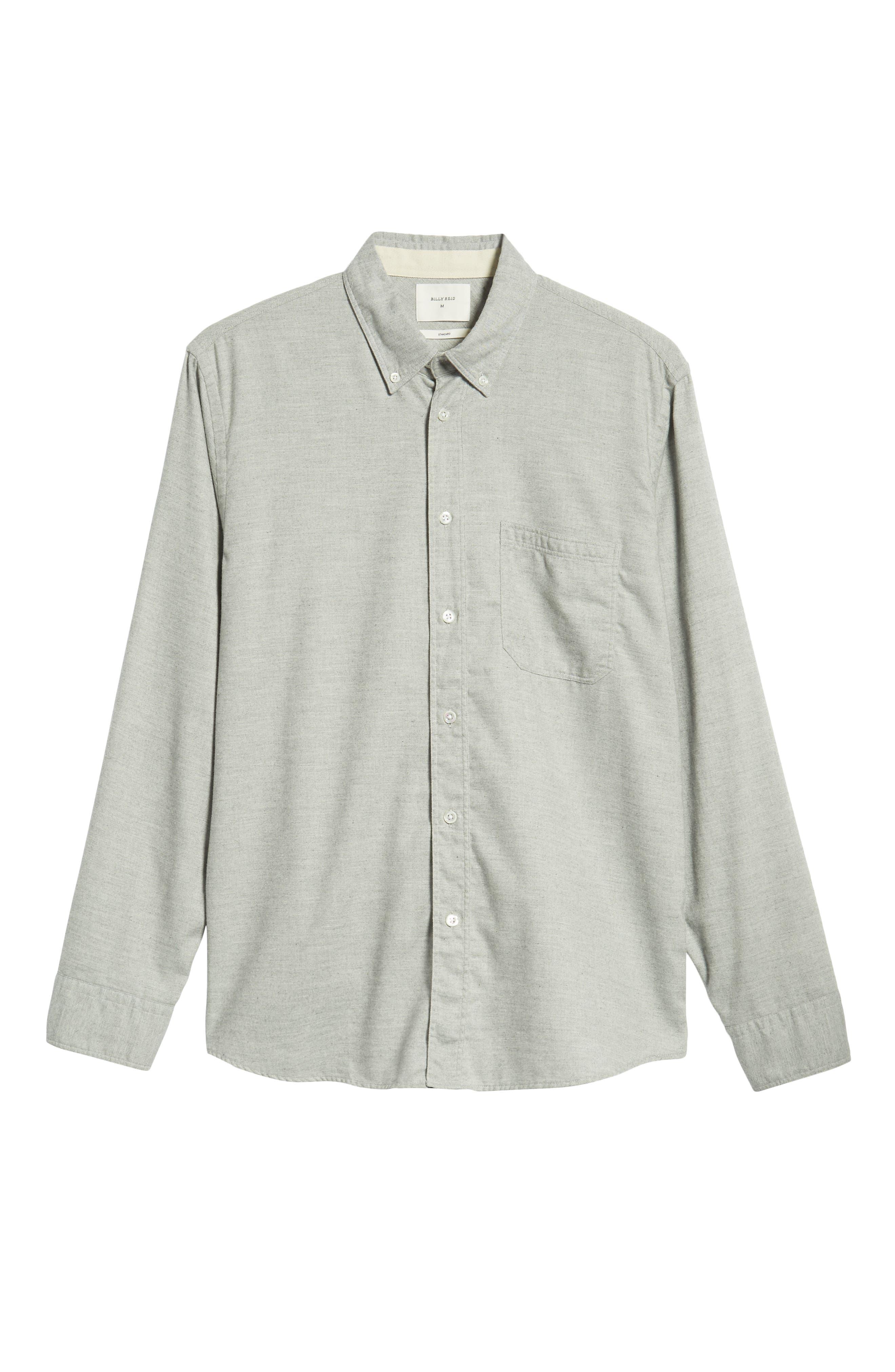 Tuscumbia Regular Fit Sport Shirt,                             Alternate thumbnail 5, color,                             LIGHT GREY