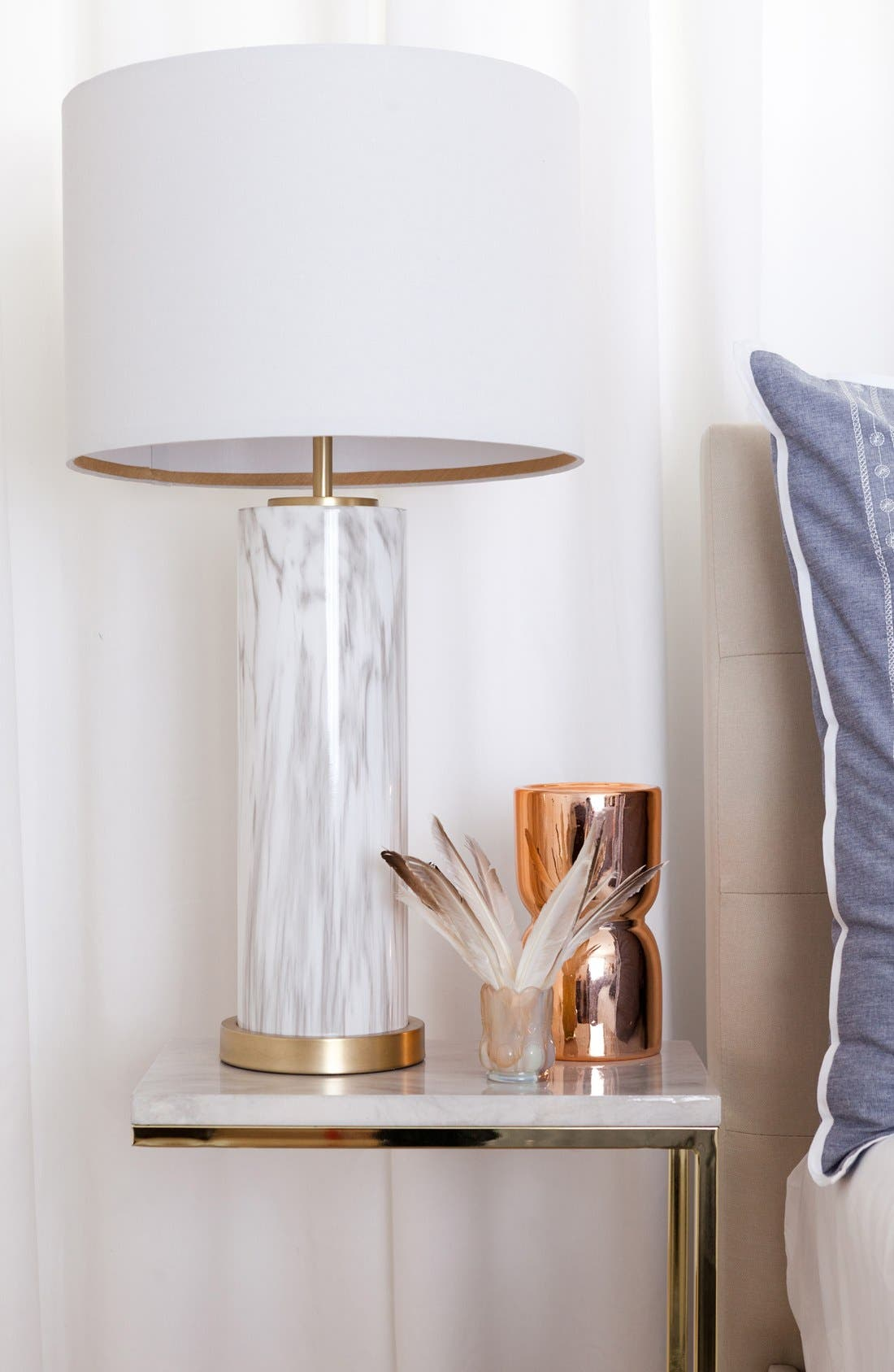 Marble Column Table Lamp,                             Alternate thumbnail 4, color,
