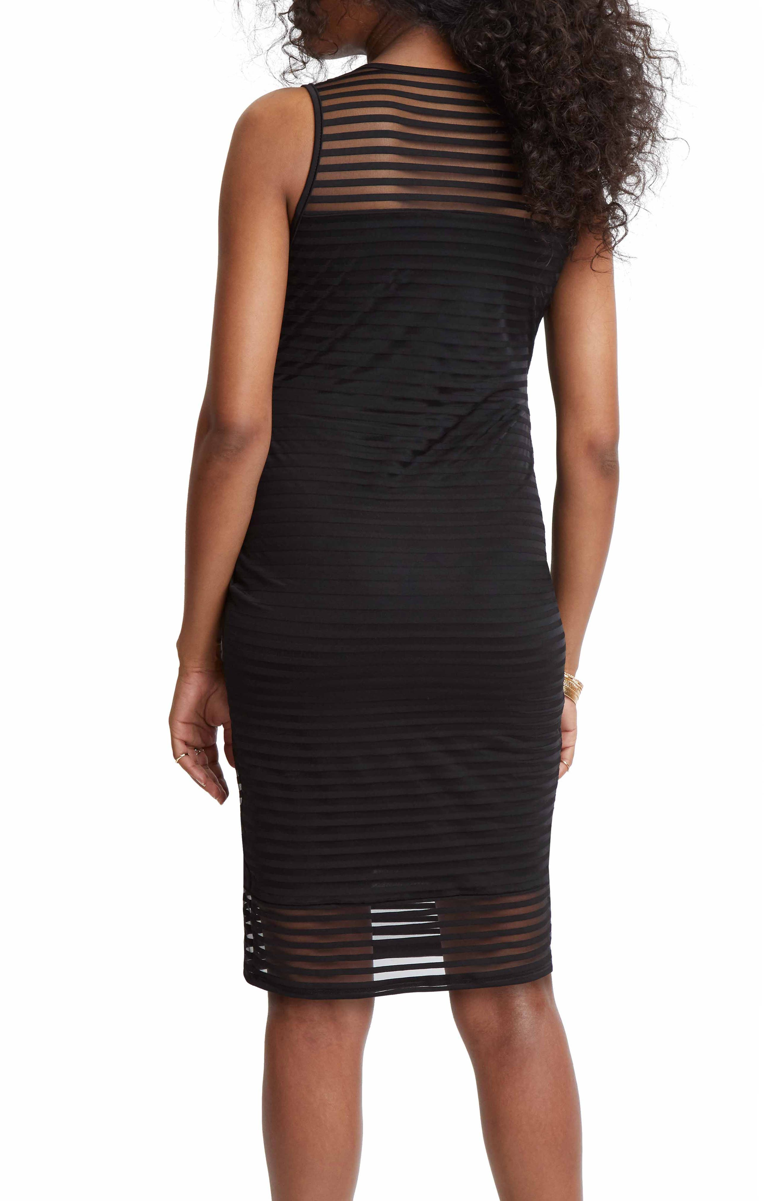STOWAWAY COLLECTION,                             Shadow Stripe Maternity Sheath Dress,                             Alternate thumbnail 2, color,                             BLACK