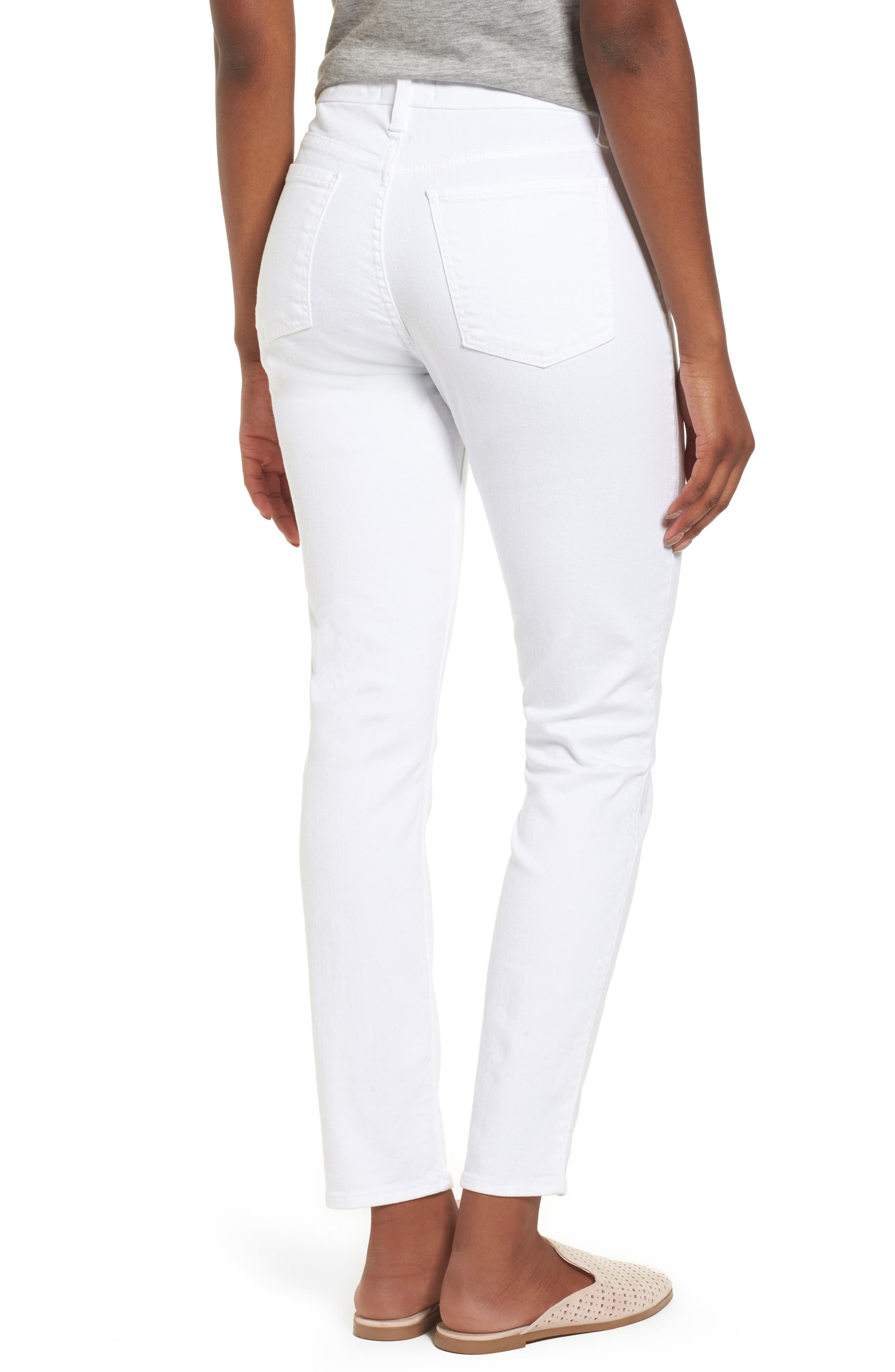 Ankle Skinny Jeans,                             Alternate thumbnail 2, color,                             WHITE FASION