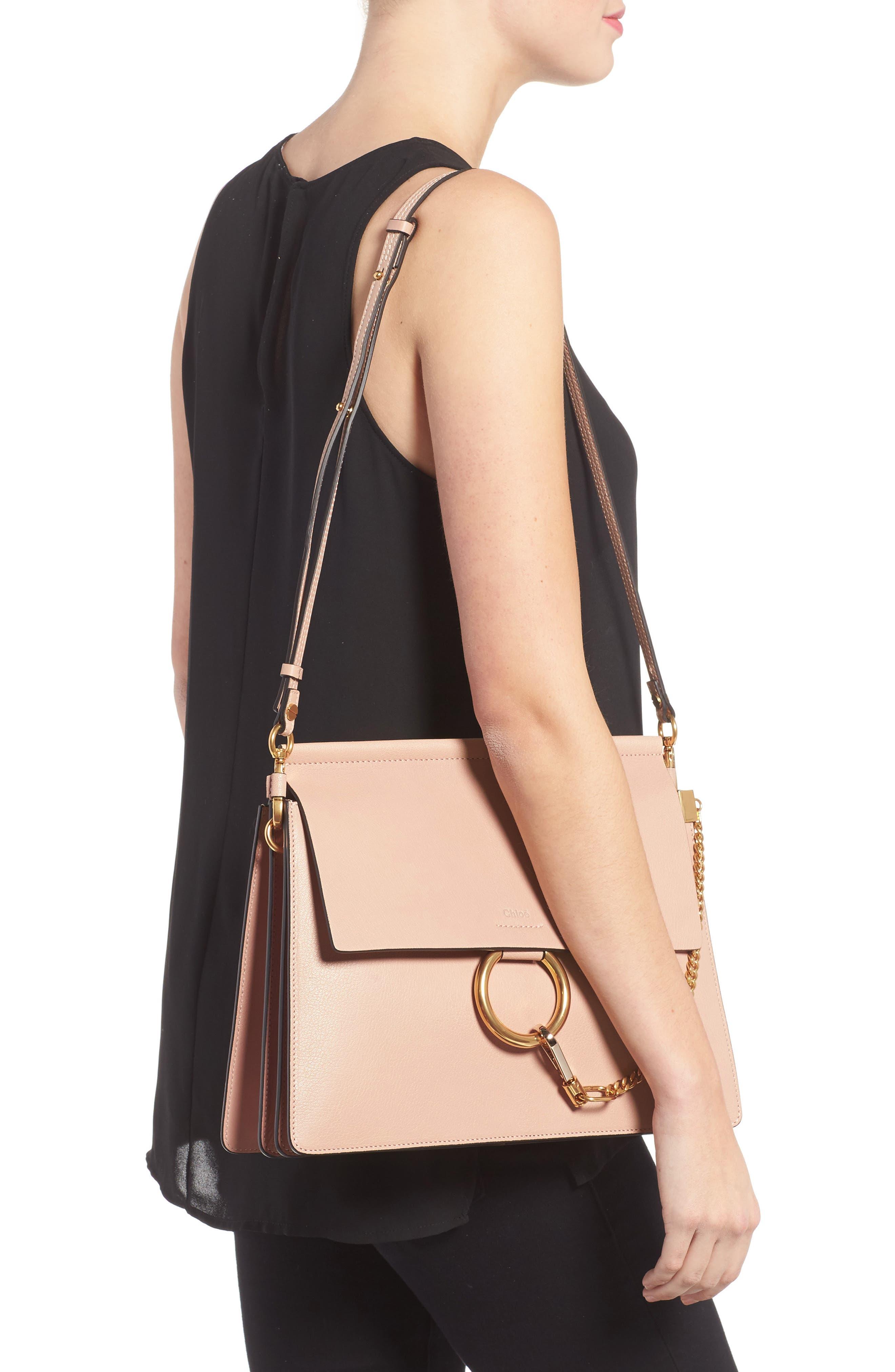Faye Goatskin Leather Shoulder Bag,                             Alternate thumbnail 4, color,