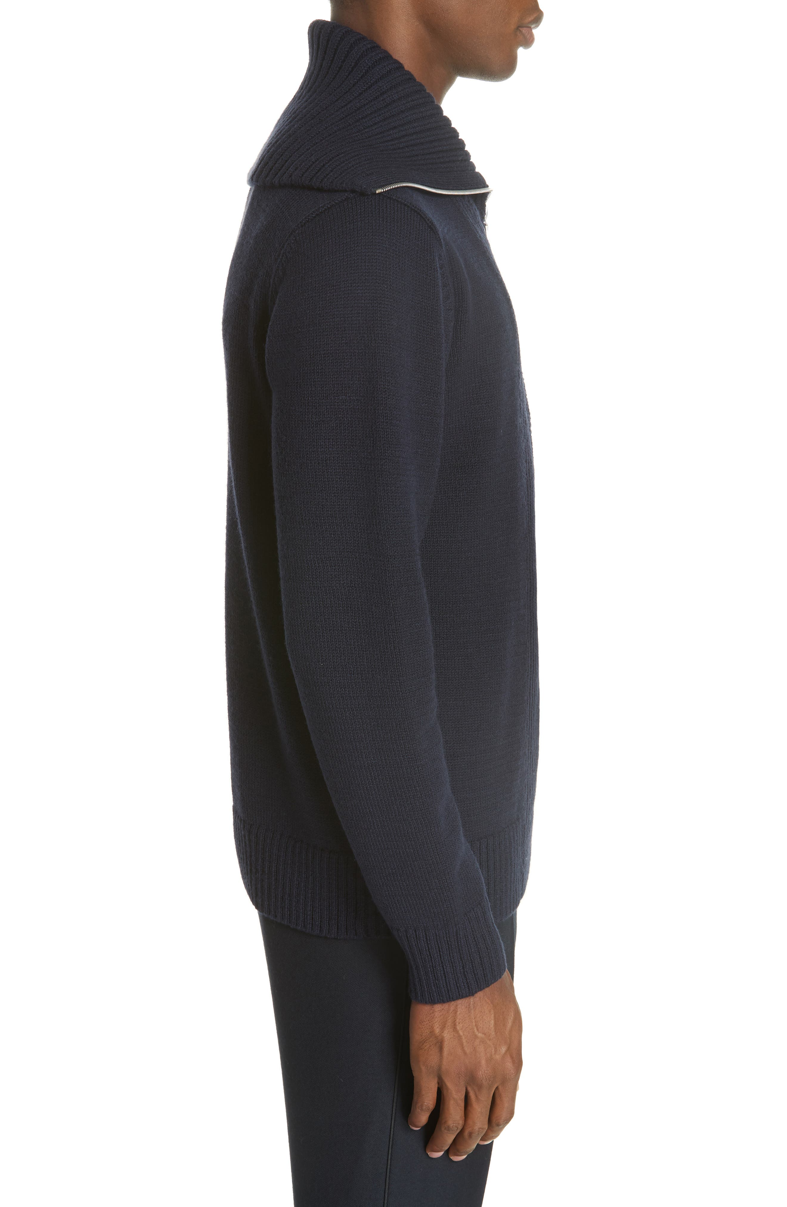 Mikhos Half Zip Sweater,                             Alternate thumbnail 3, color,                             NAVY