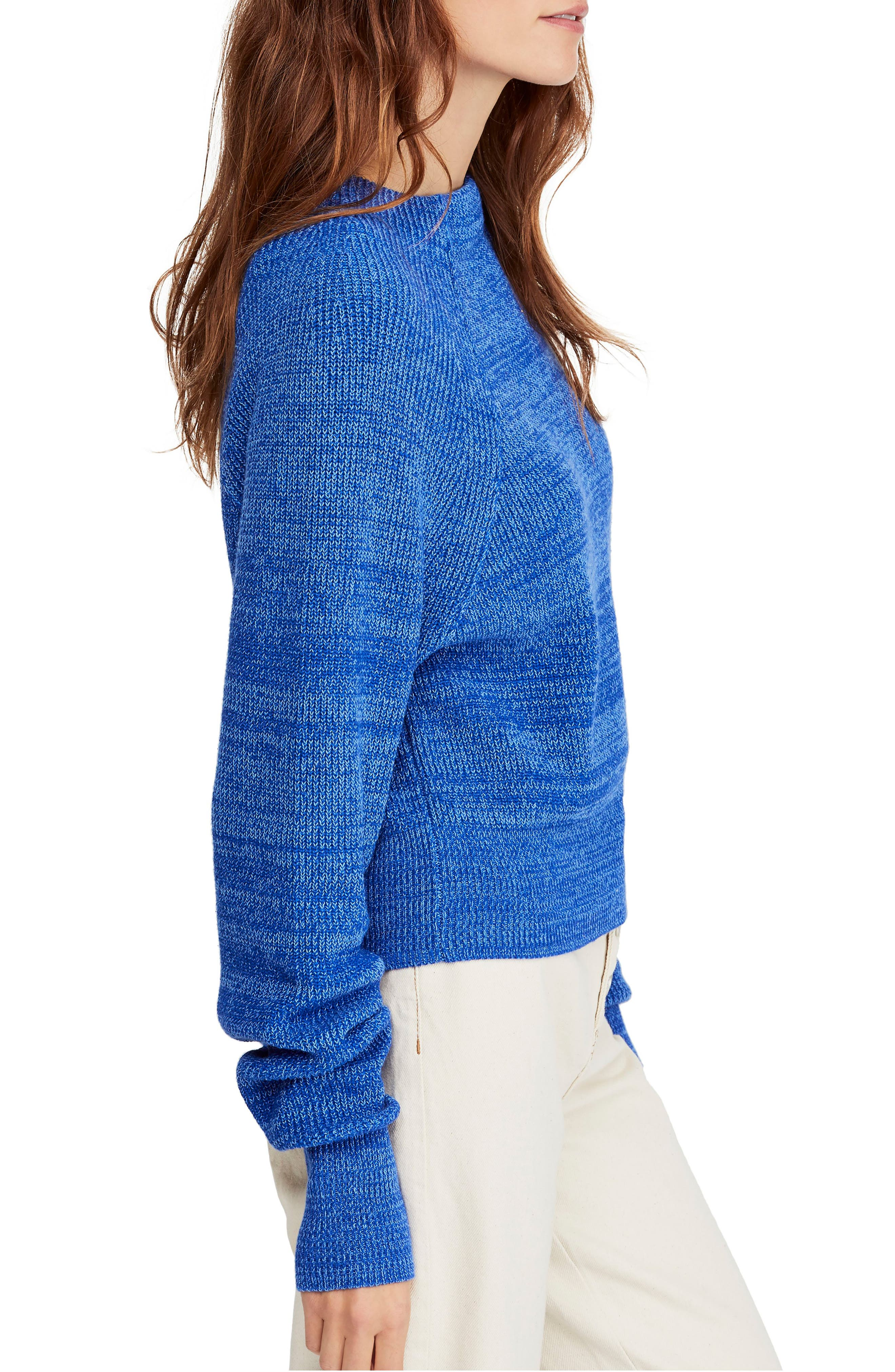 FREE PEOPLE,                             Too Good Sweater,                             Alternate thumbnail 3, color,                             BLUE