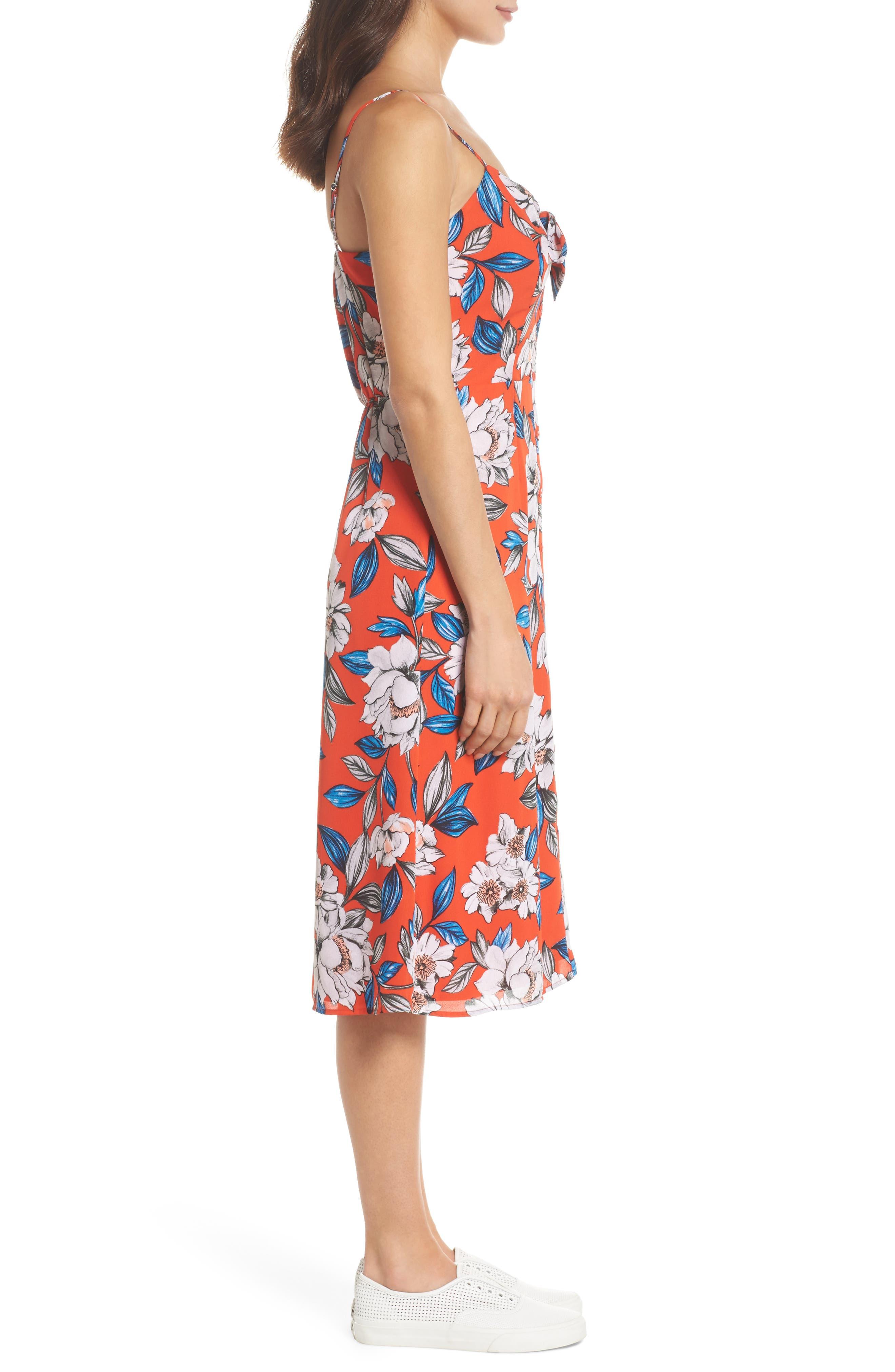Hey Boy Button Front Midi Dress,                             Alternate thumbnail 3, color,                             619