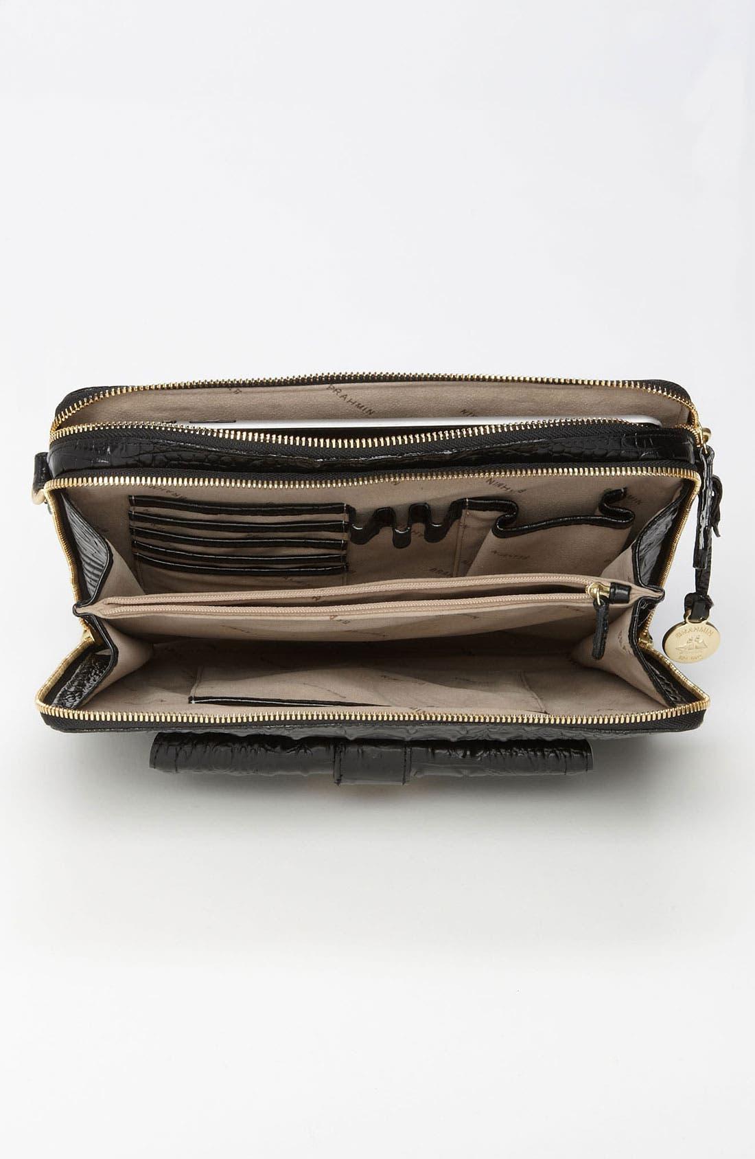 BRAHMIN,                             'Theo - Melbourne' iPad Crossbody Bag,                             Alternate thumbnail 2, color,                             001