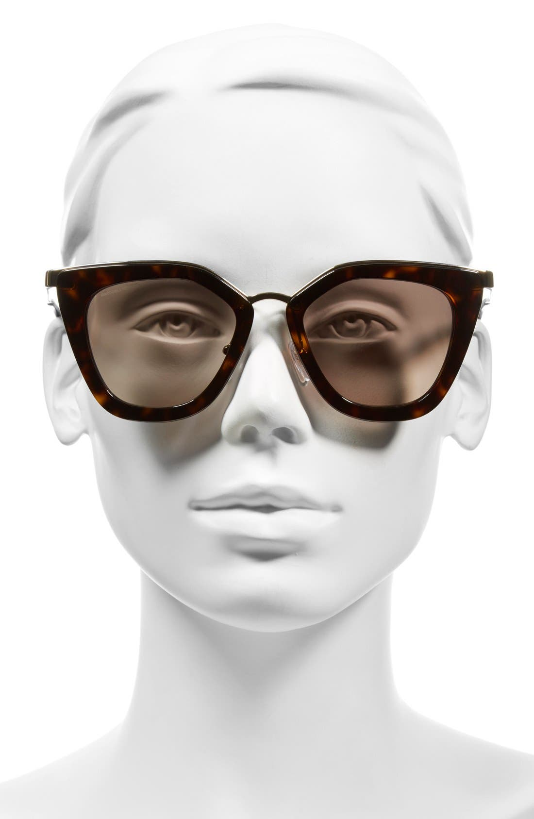 52mm Cat Eye Sunglasses,                             Alternate thumbnail 8, color,