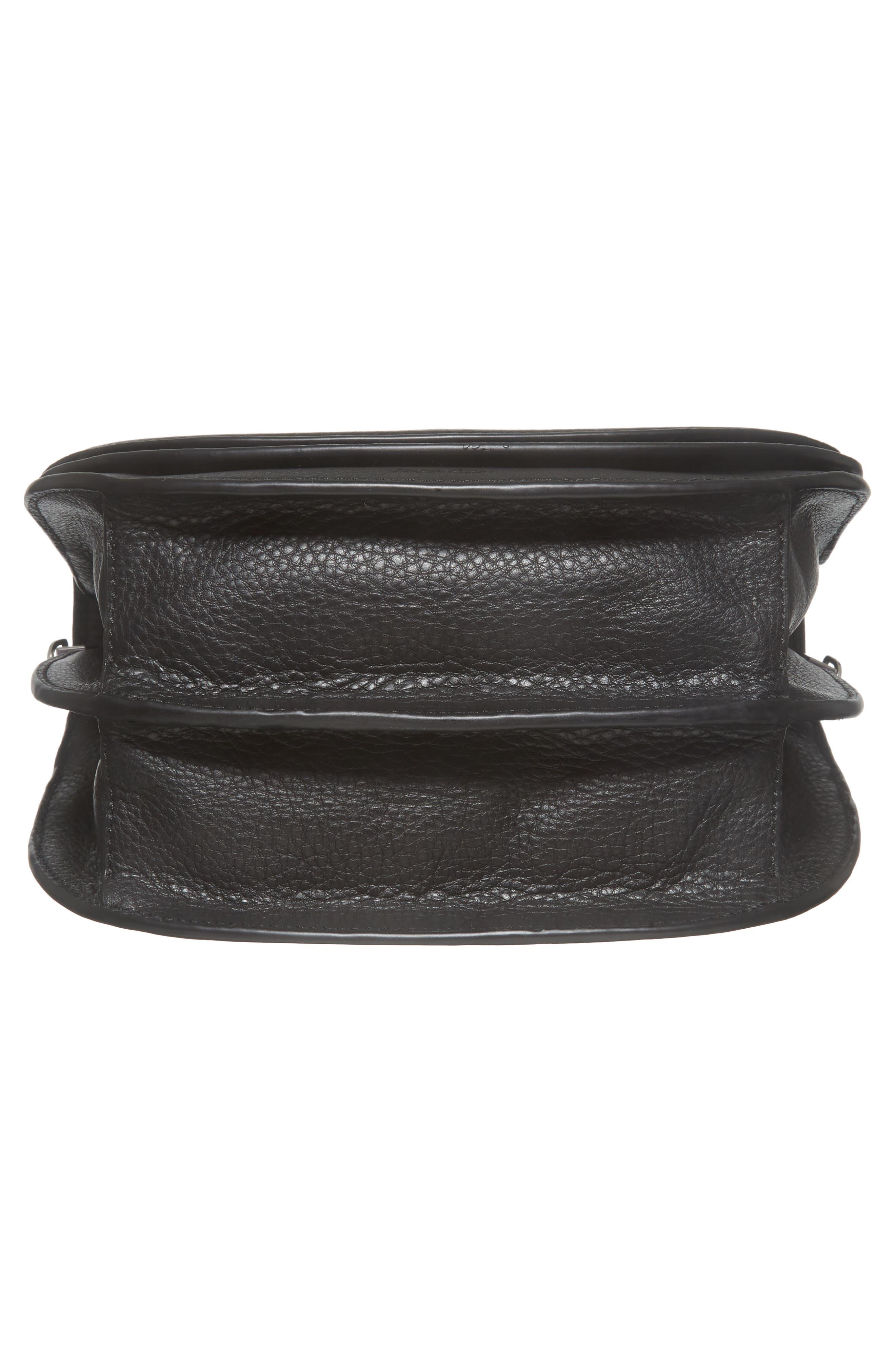Landon Leather Crossbody Saddle Bag,                             Alternate thumbnail 21, color,