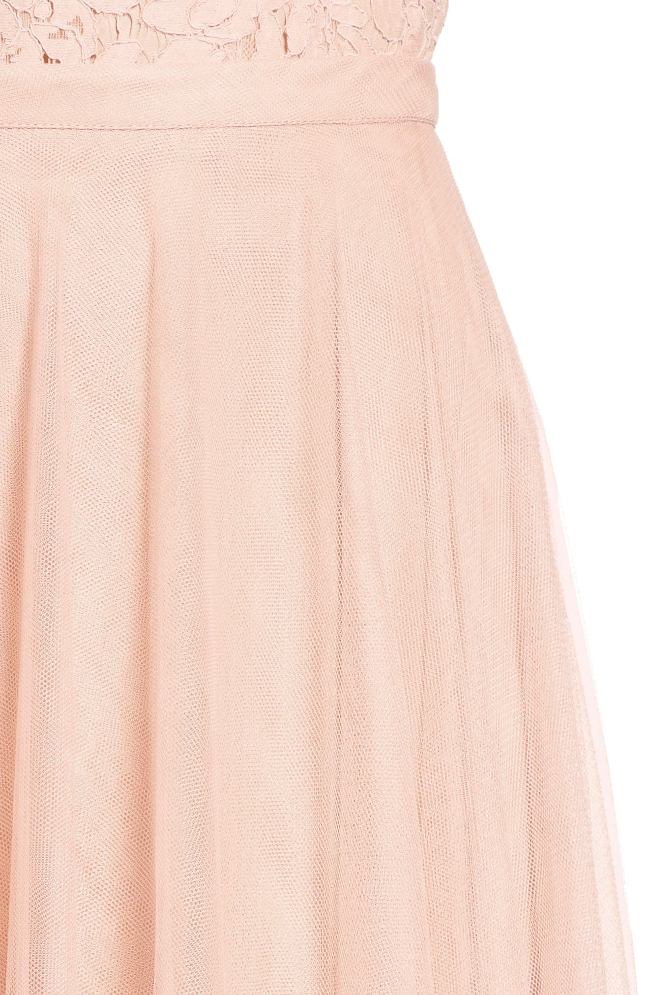 Winslow Long Tulle A-Line Skirt,                             Alternate thumbnail 5, color,                             CAMEO PINK