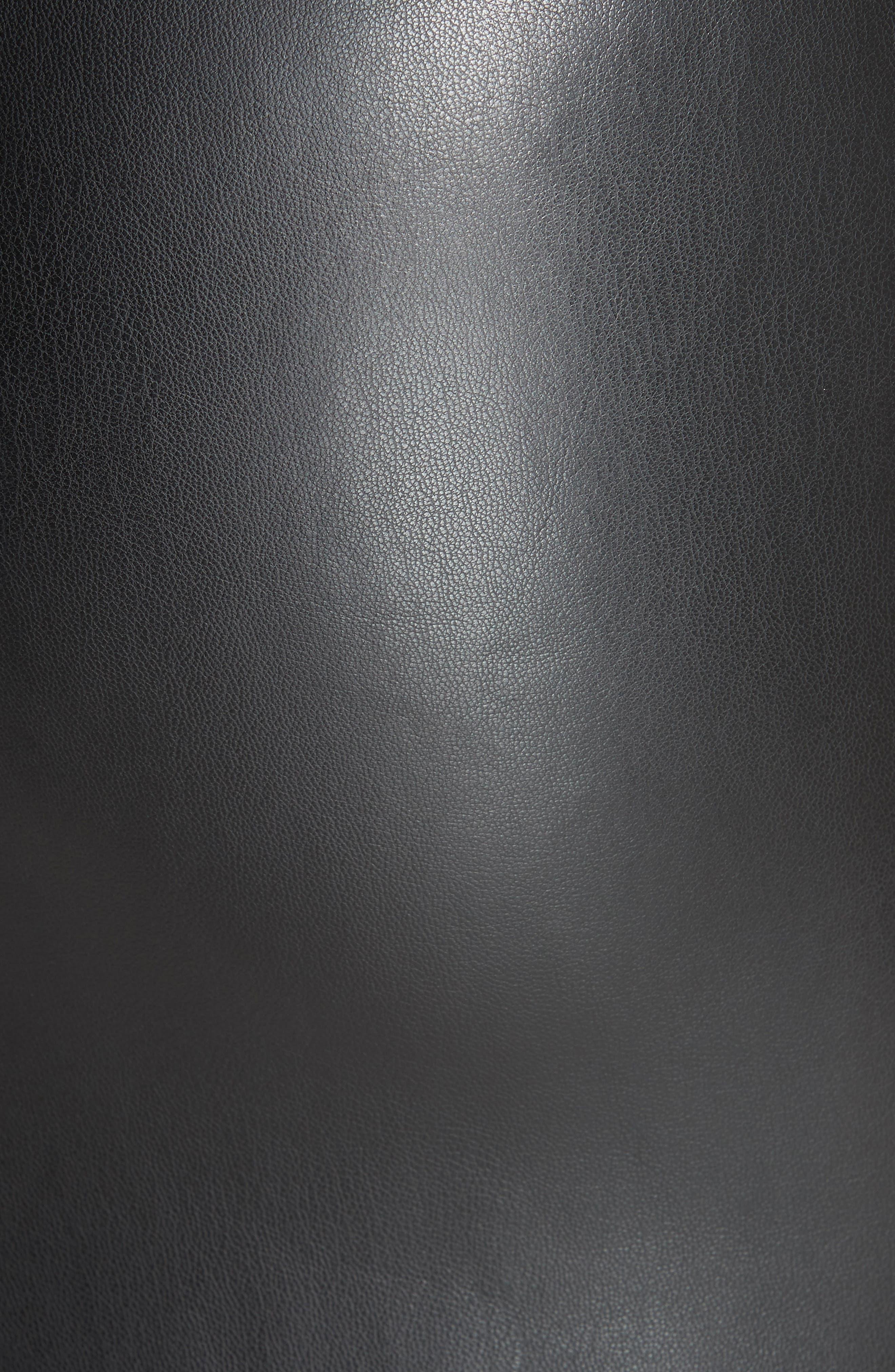 Bedford Faux Leather Slipdress,                             Alternate thumbnail 5, color,                             001