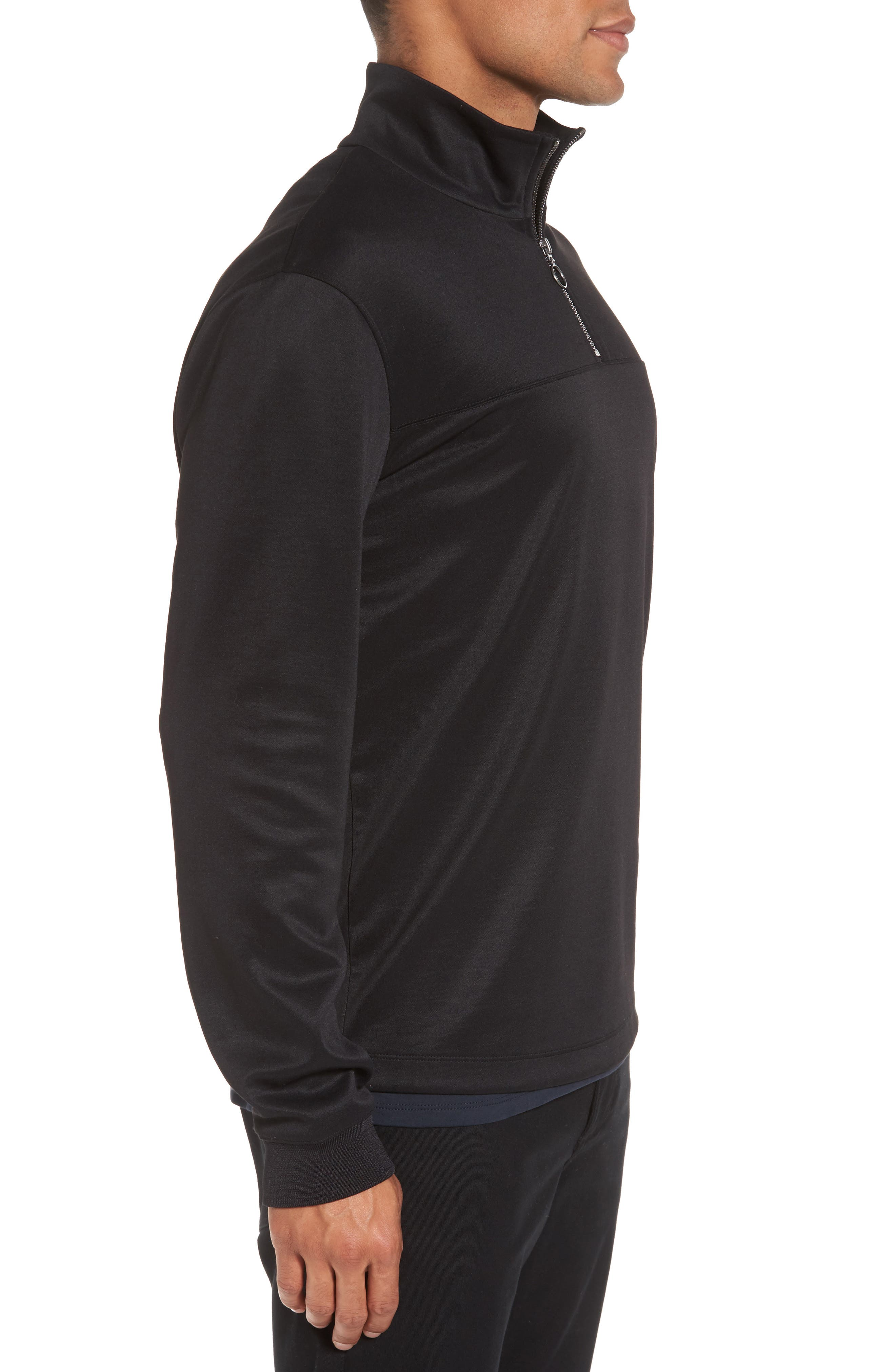 Quarter Zip Jacket,                             Alternate thumbnail 3, color,                             001