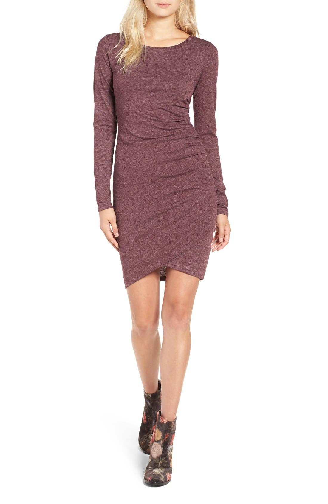 Ruched Long Sleeve Dress,                             Main thumbnail 26, color,