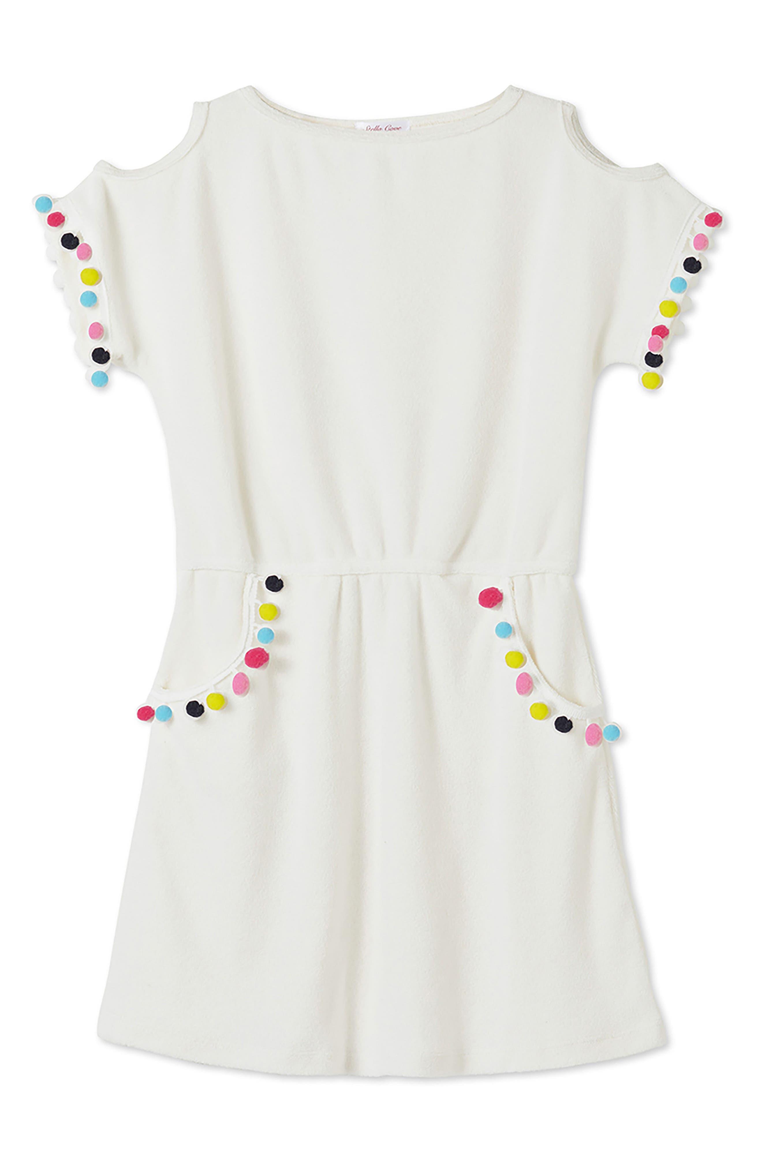 Pompom Dress,                         Main,                         color, 100