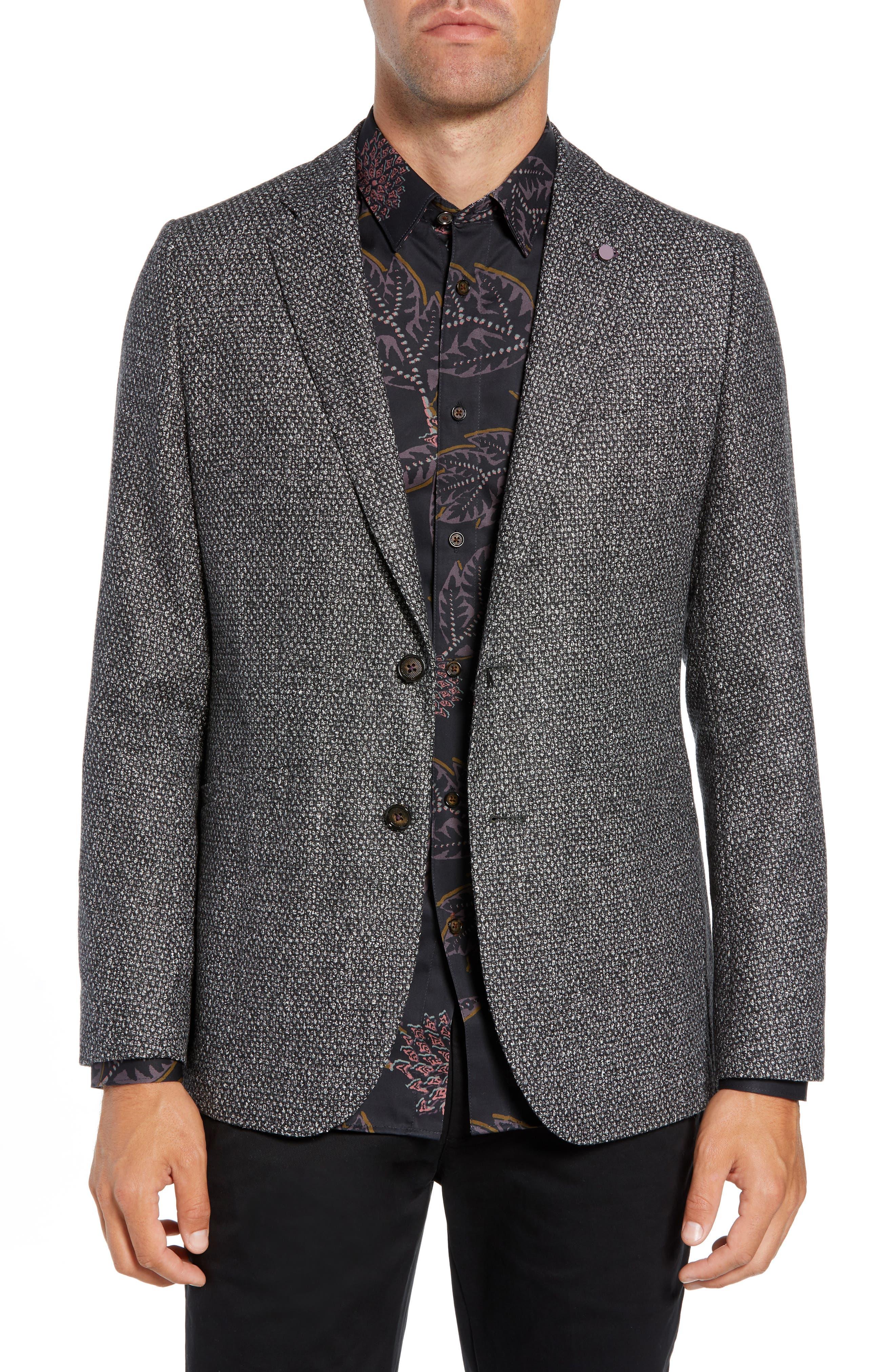 Pickl Bouclé Sport Coat,                         Main,                         color, GREY