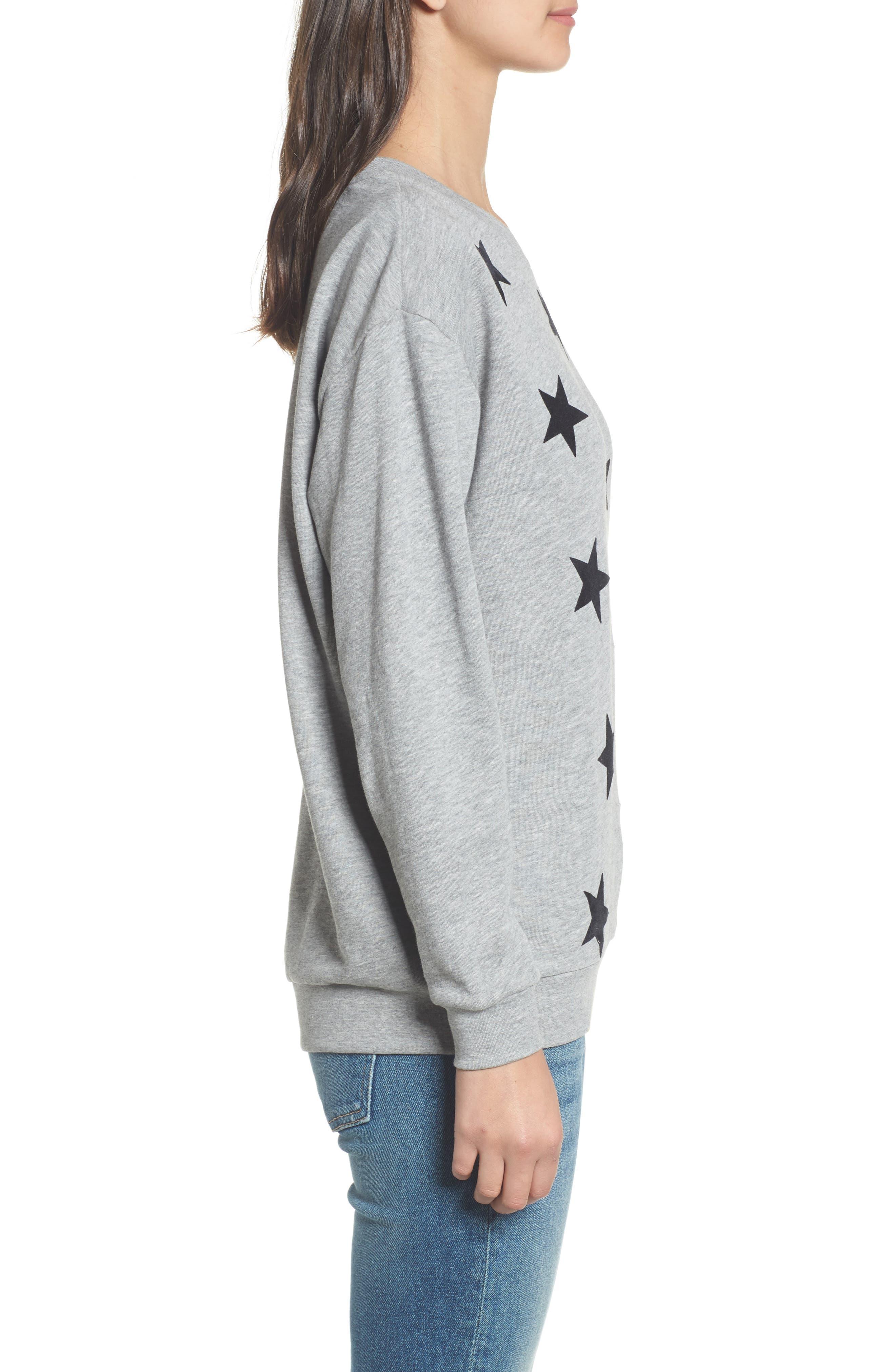 Alexa - Super Stars Sweatshirt,                             Alternate thumbnail 3, color,                             GREY