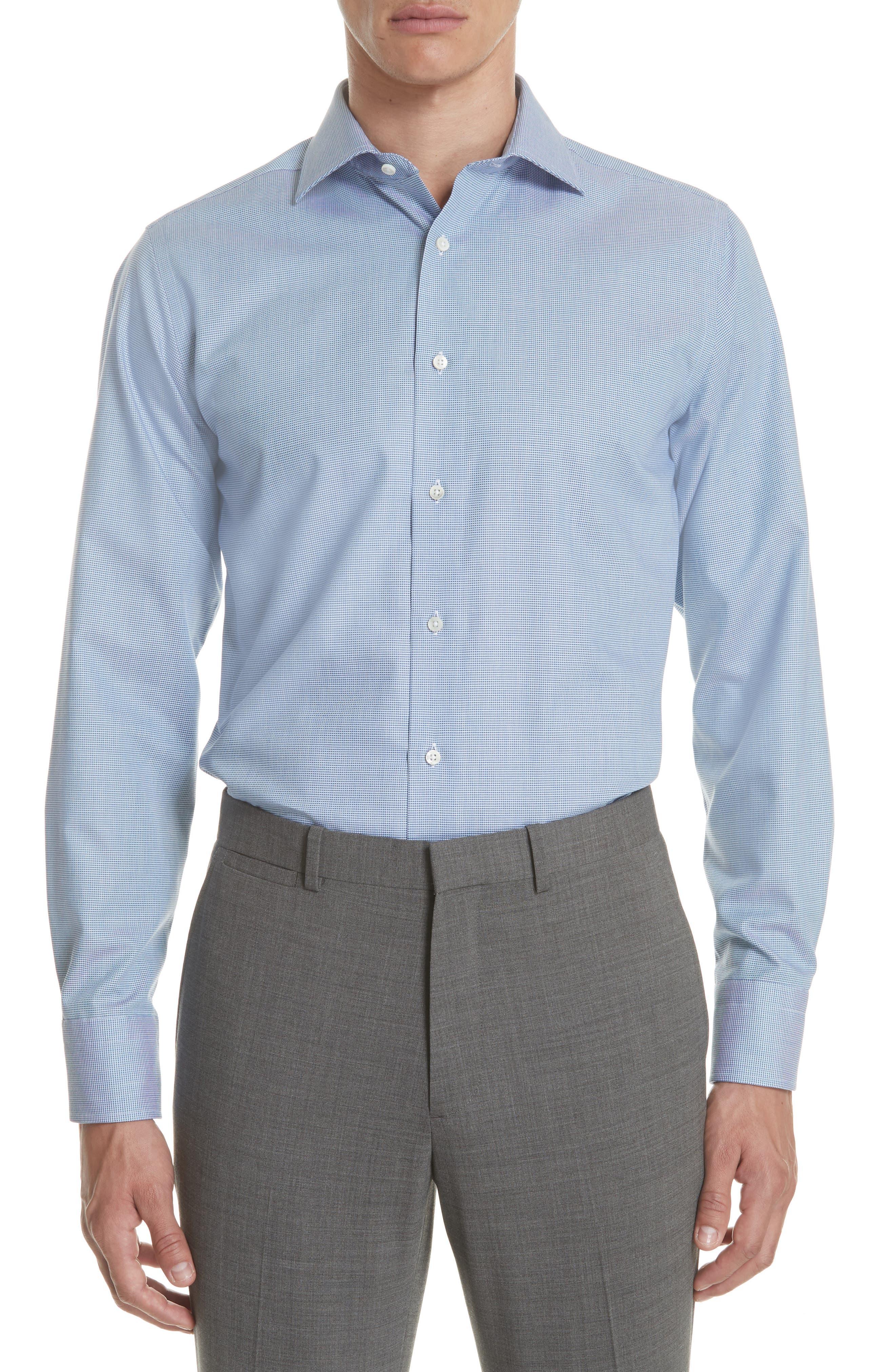 Regular Fit Solid Dress Shirt,                             Main thumbnail 1, color,                             401