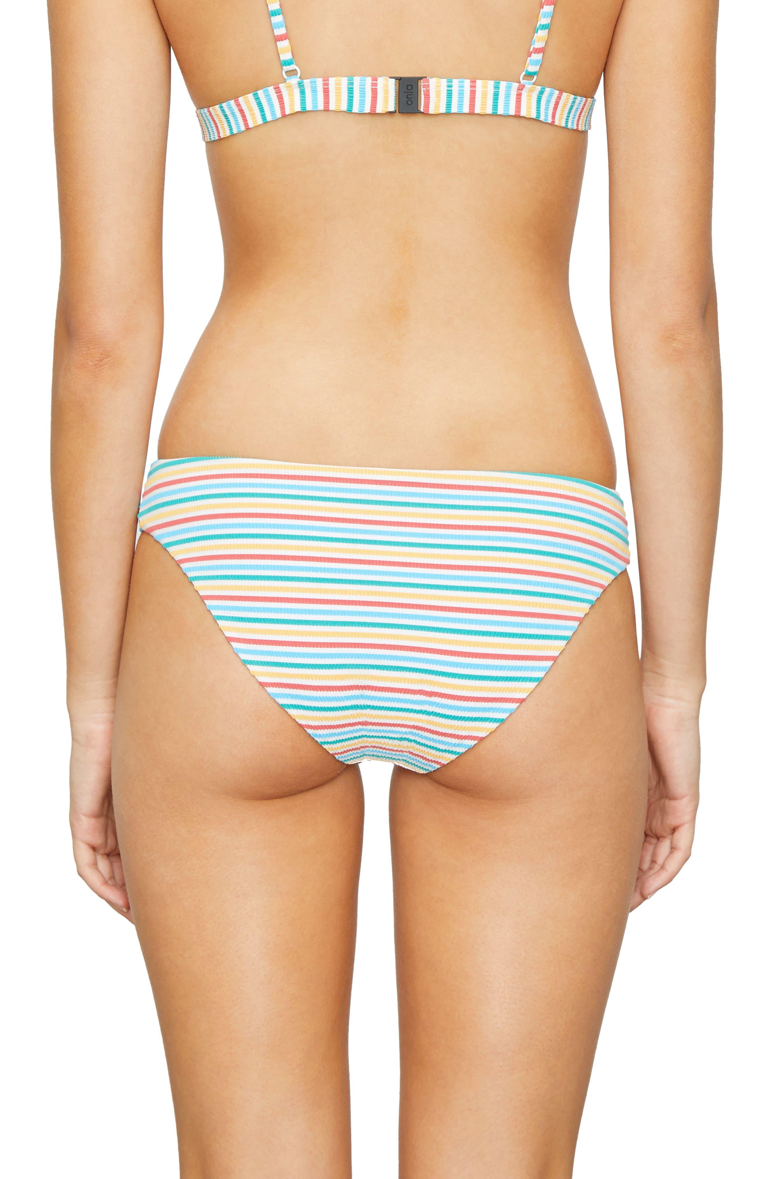 Stripe Bikini Bottoms,                             Alternate thumbnail 2, color,                             700
