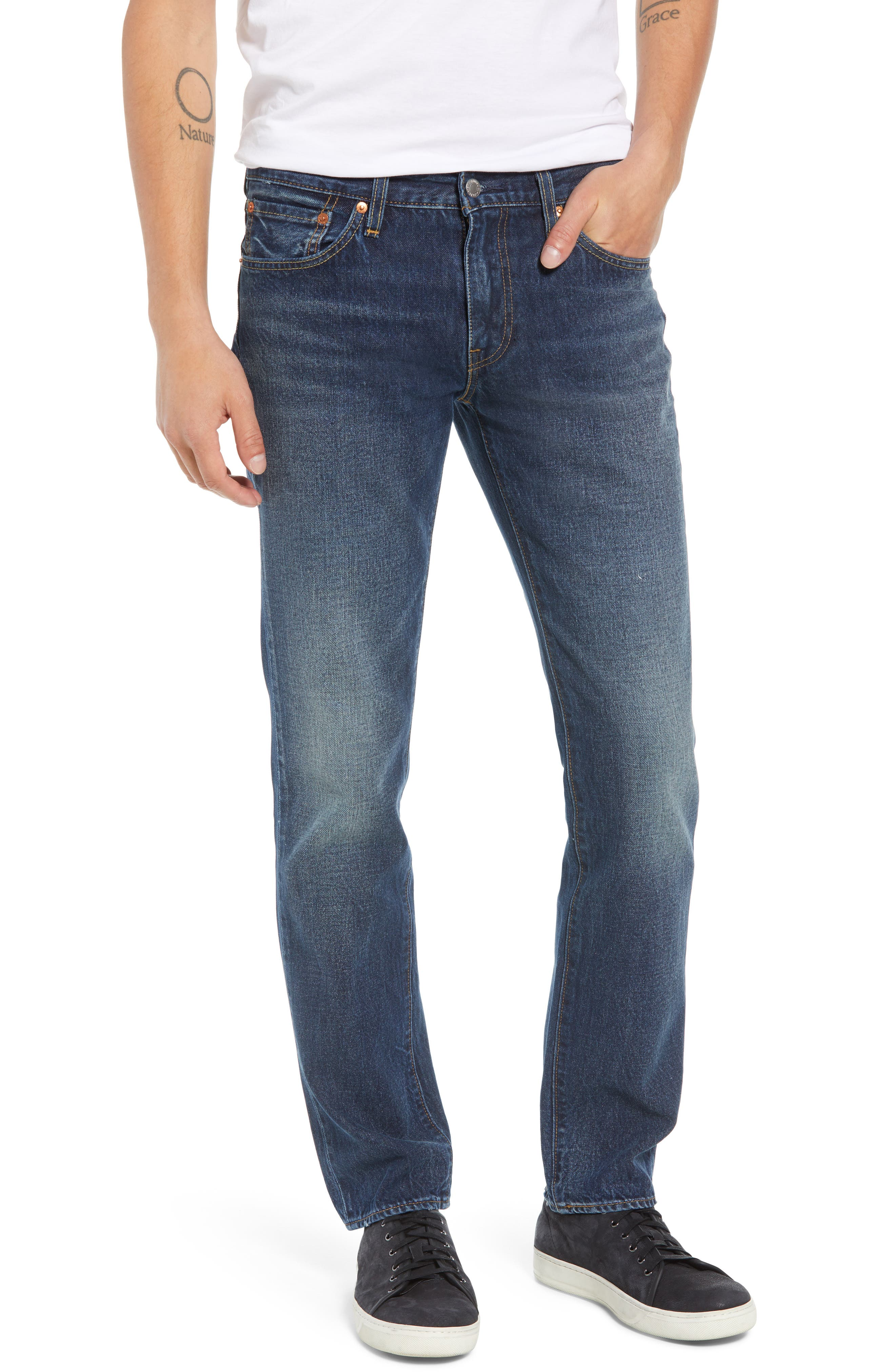 511<sup>™</sup> Slim Fit Jeans,                         Main,                         color, SPLICED HEART WARP