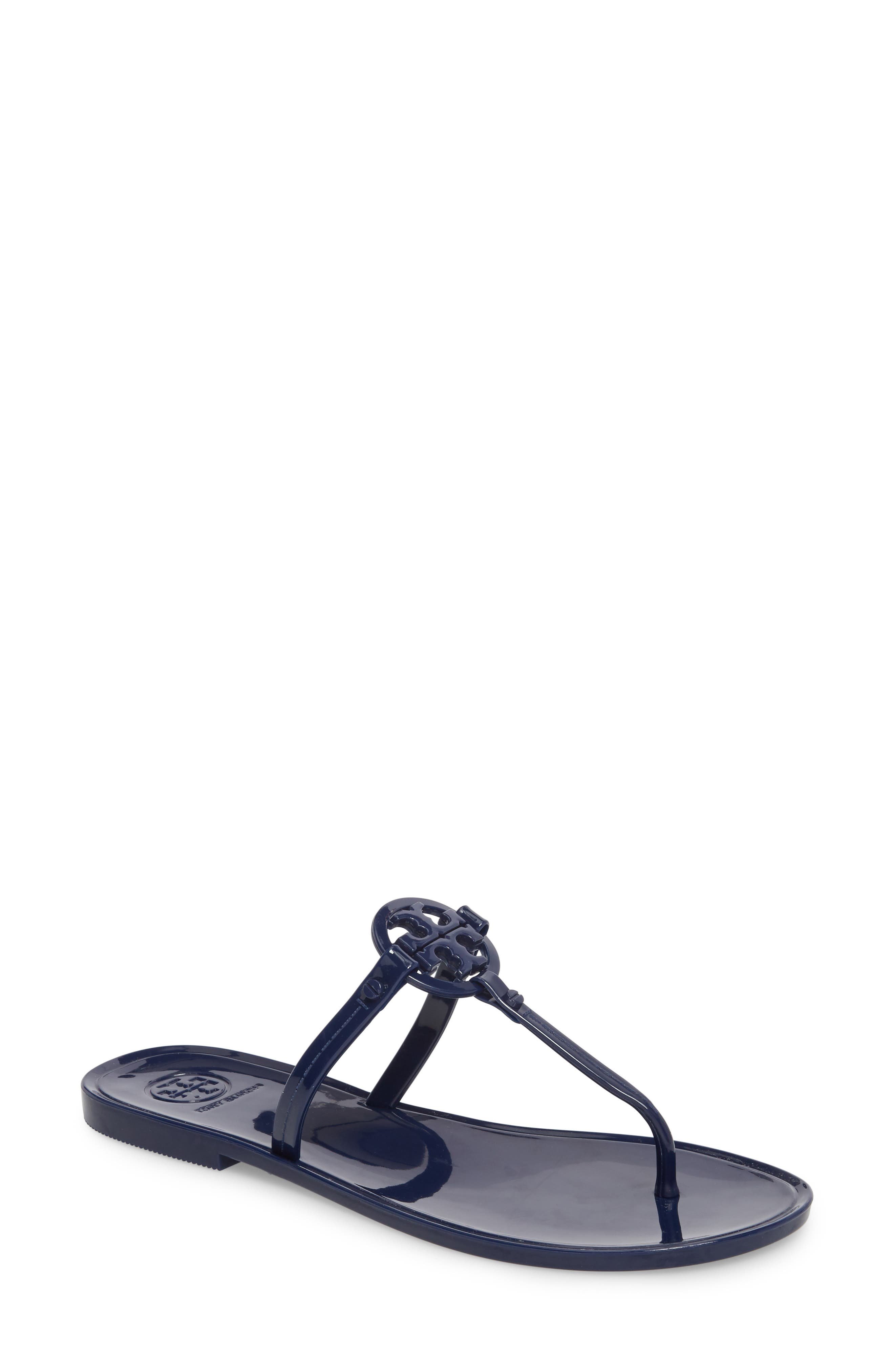 'Mini Miller' Flat Sandal,                             Main thumbnail 1, color,                             BRIGHT INDIGO