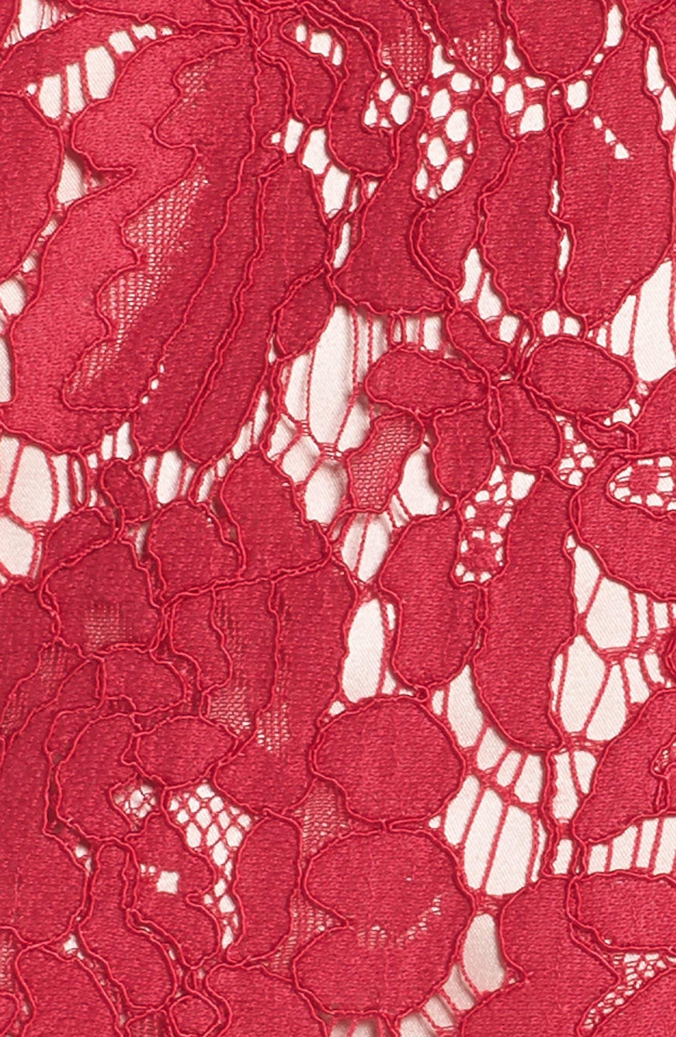 Cold Shoulder Lace Shift Dress,                             Alternate thumbnail 5, color,                             601