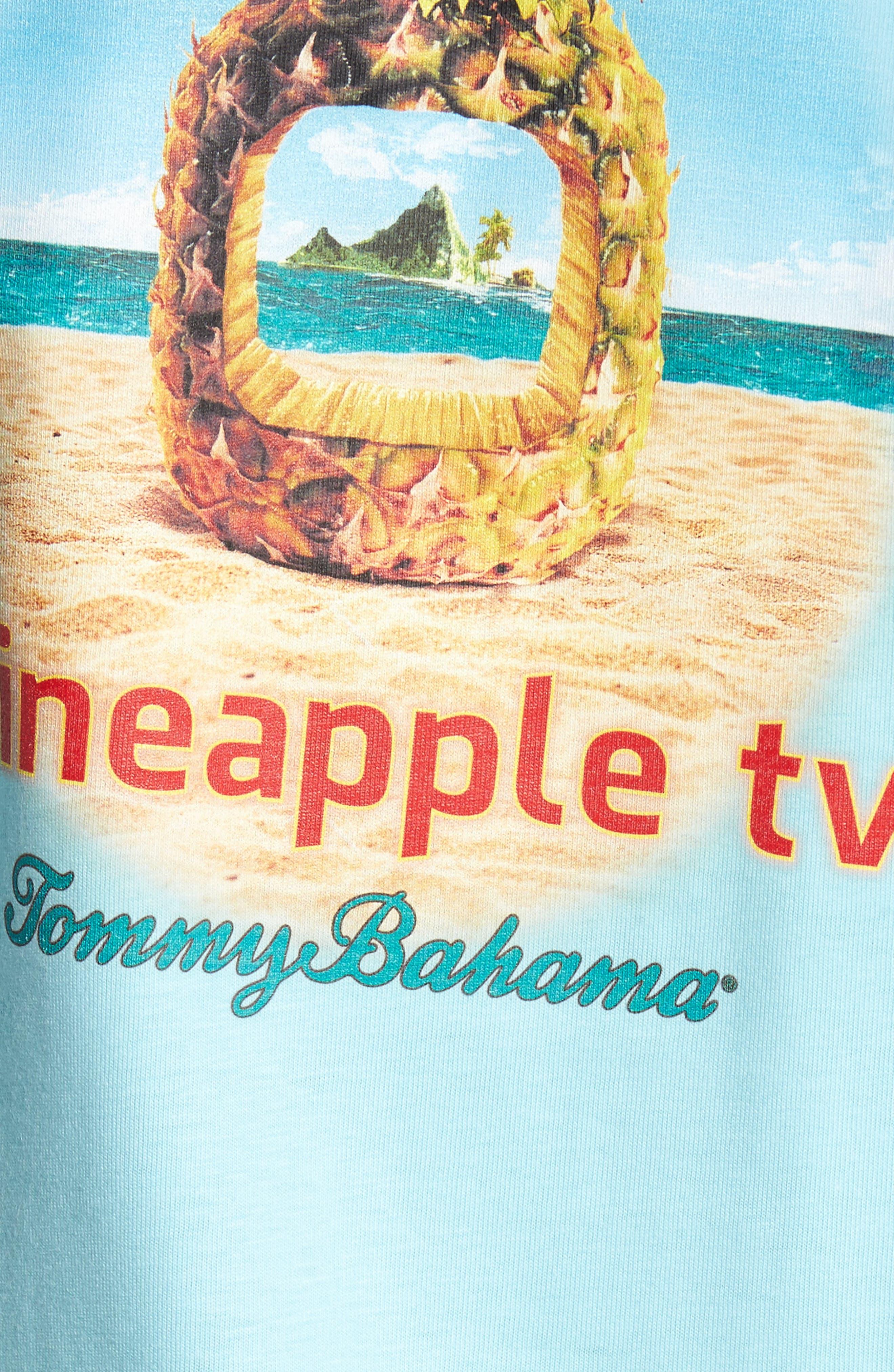 Pineapple TV Graphic T-Shirt,                             Alternate thumbnail 5, color,