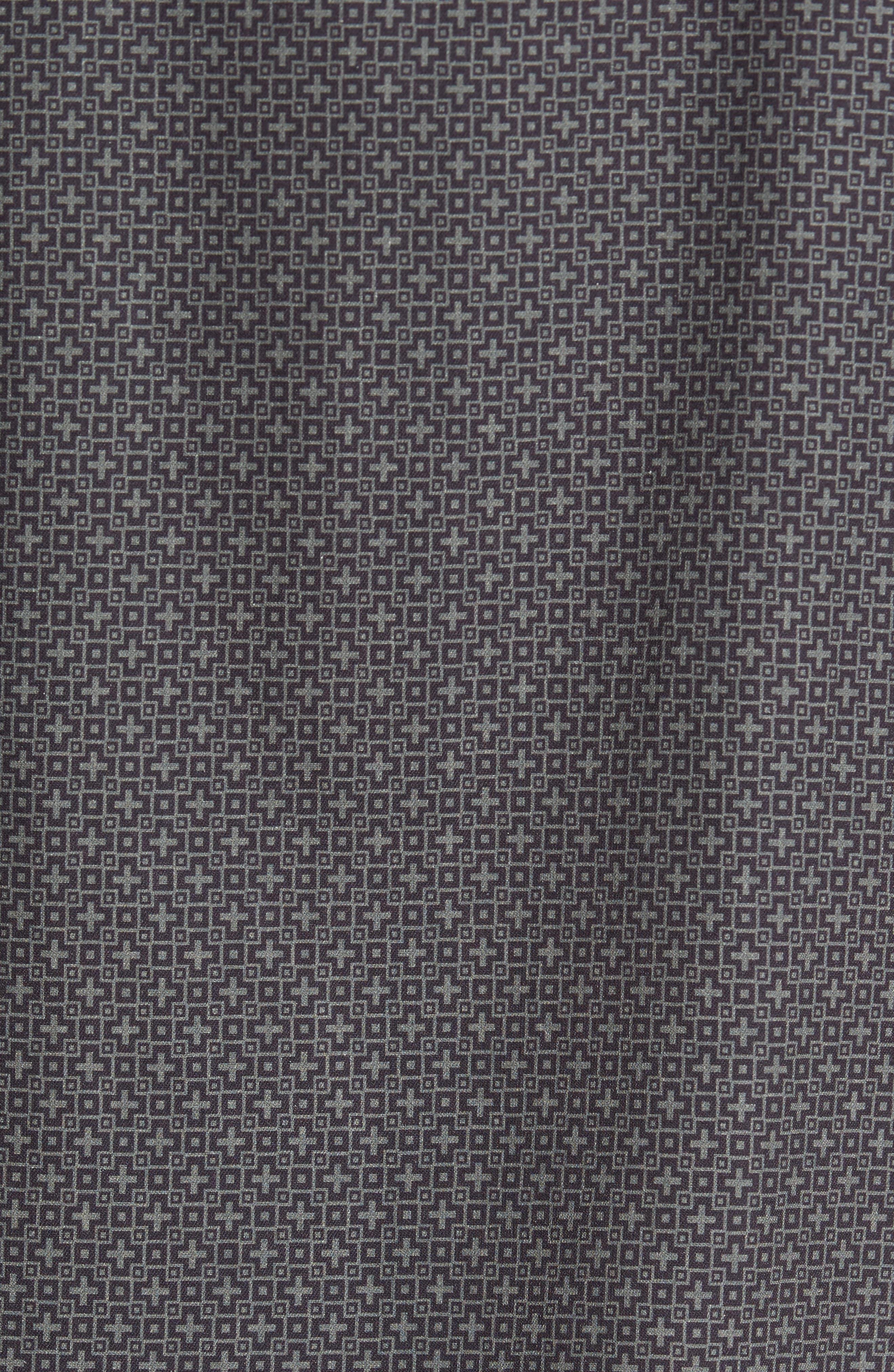 Everest Print Silk Blend Sport Shirt,                             Alternate thumbnail 13, color,