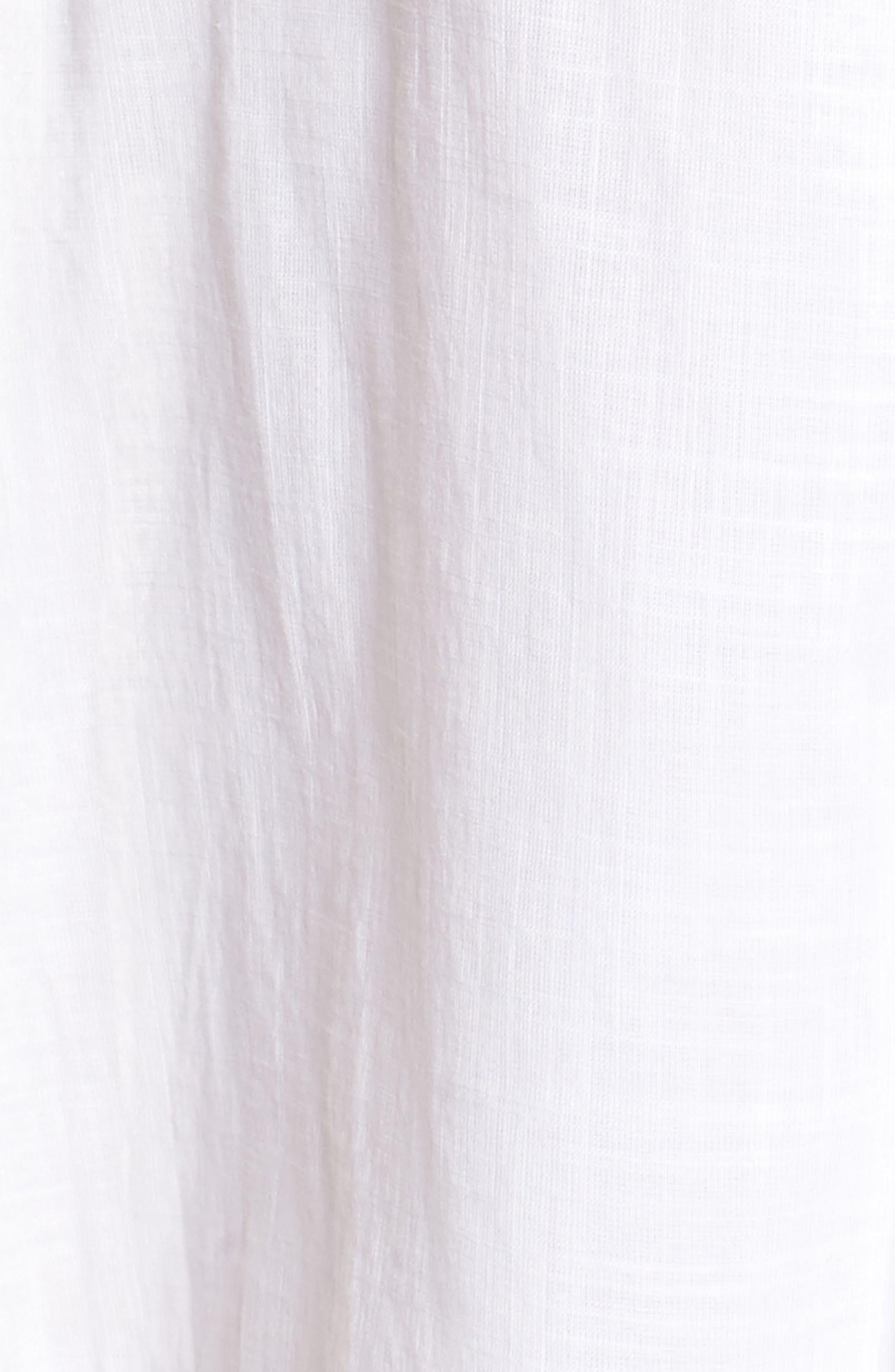 Crochet Trim High/Low Dress,                             Alternate thumbnail 6, color,                             WHITE