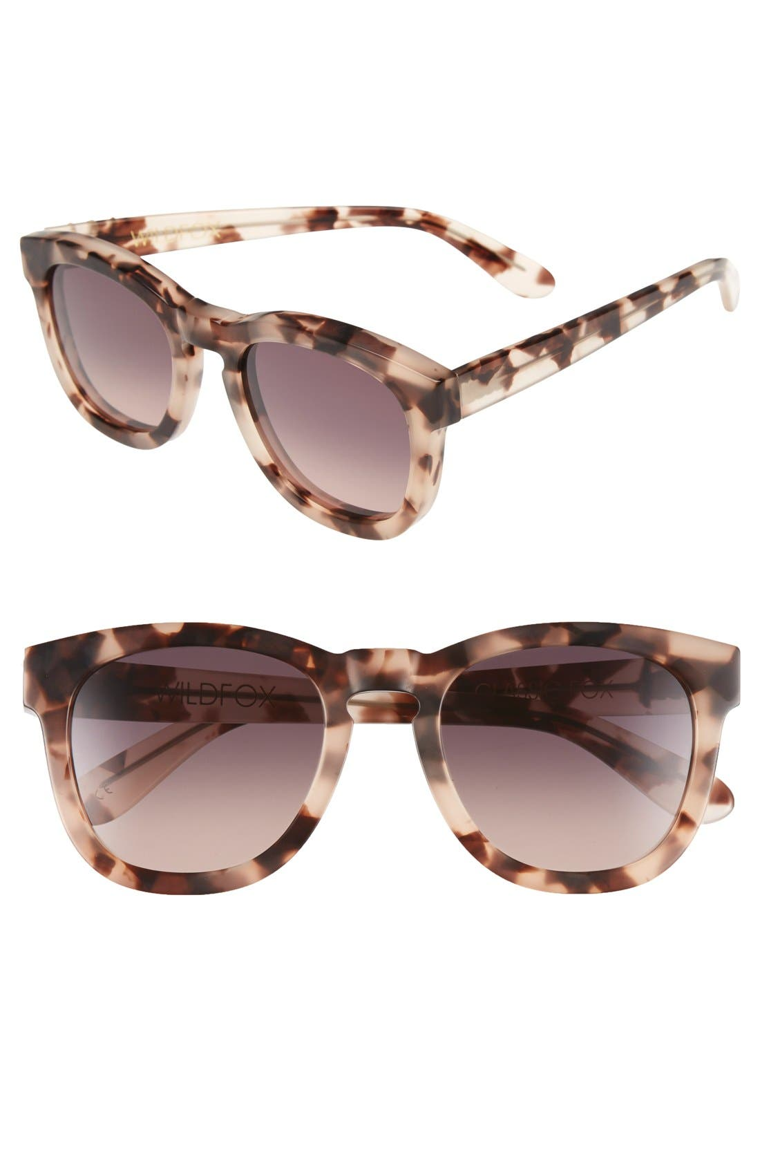 'Classic Fox' 50mm Retro Sunglasses,                             Main thumbnail 12, color,