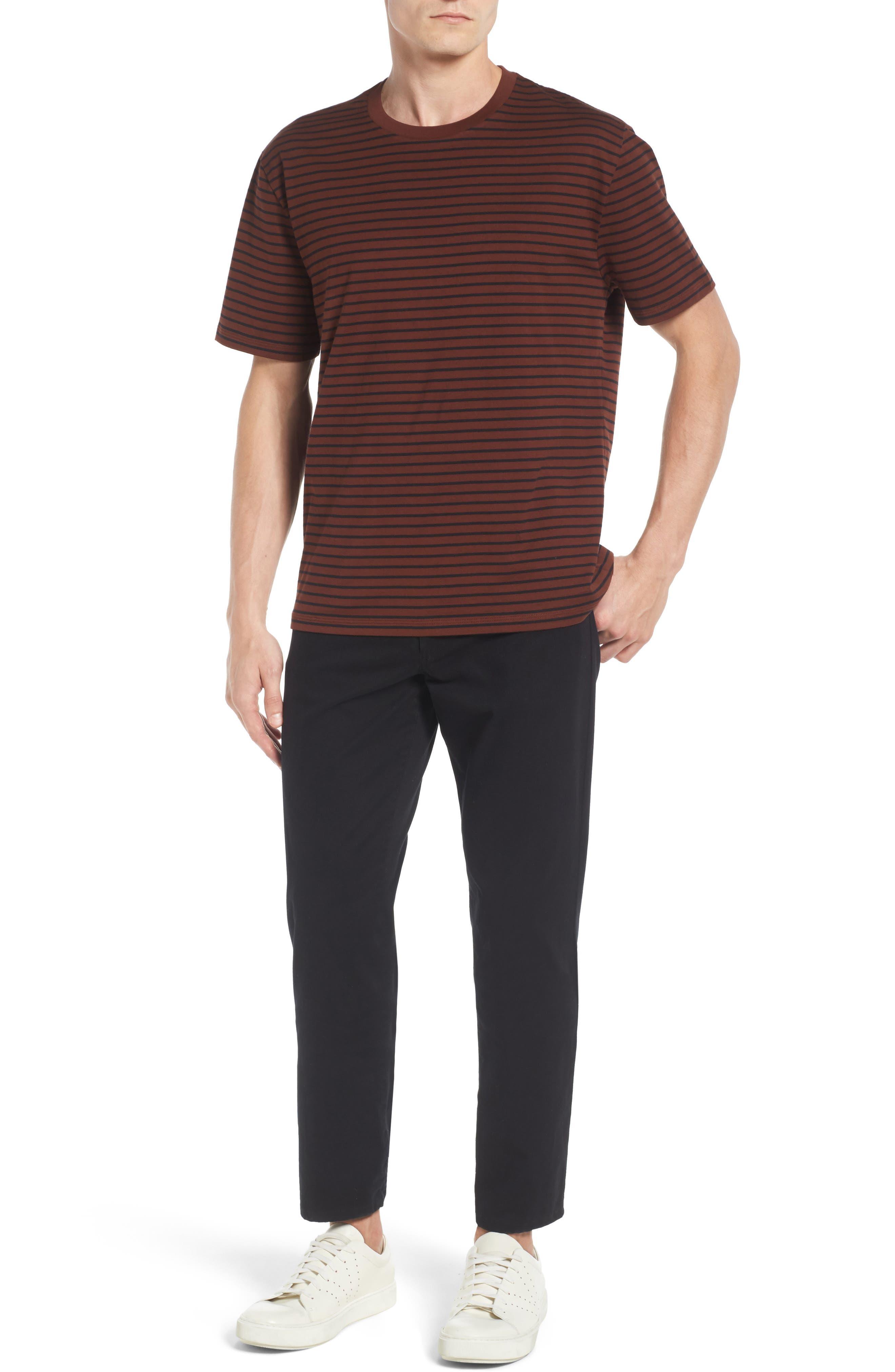 Narrow Stripe Pima Cotton T-Shirt,                             Alternate thumbnail 12, color,