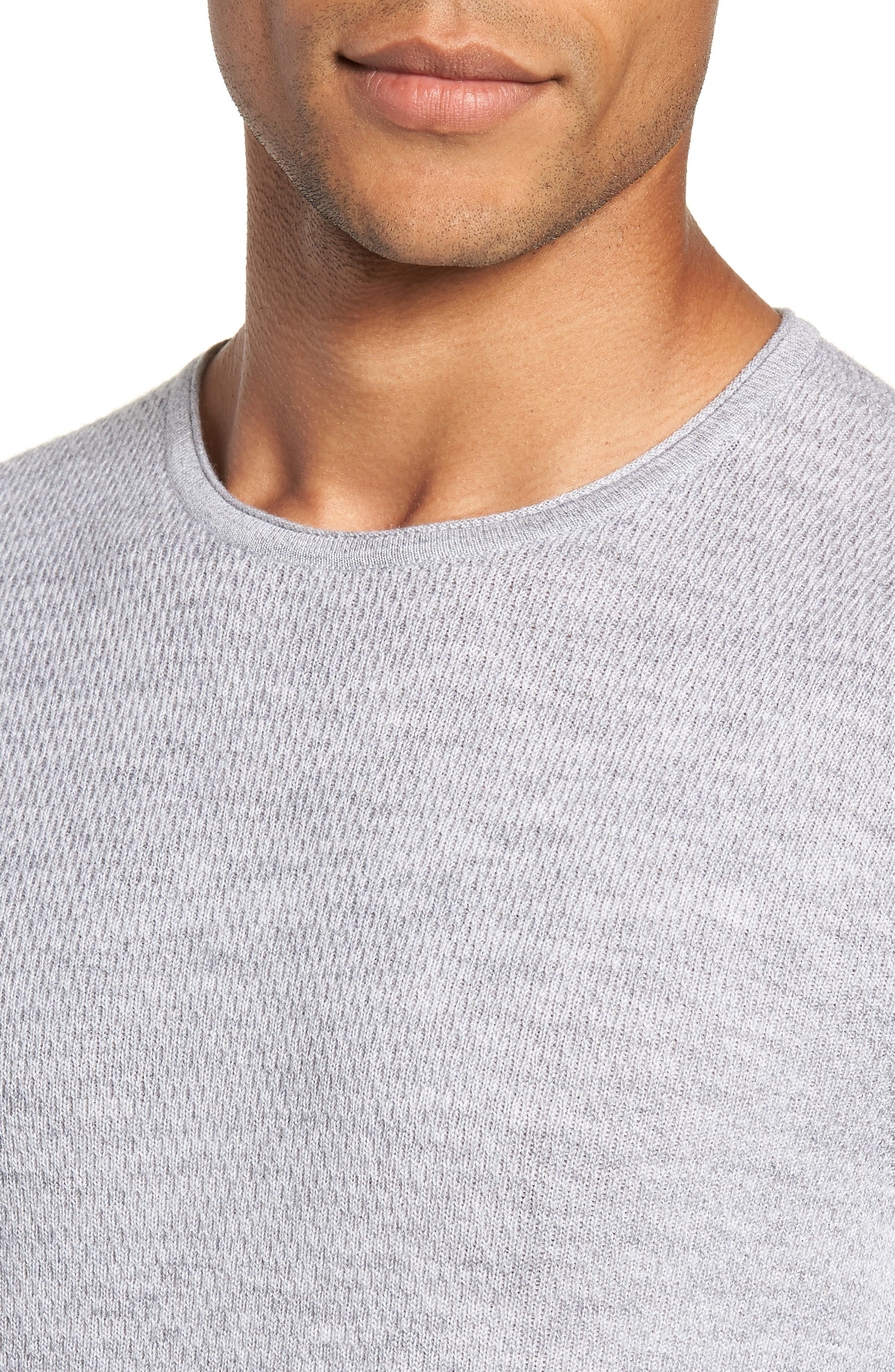Gregory Merino Wool Blend Crewneck Sweater,                             Alternate thumbnail 4, color,                             GREY