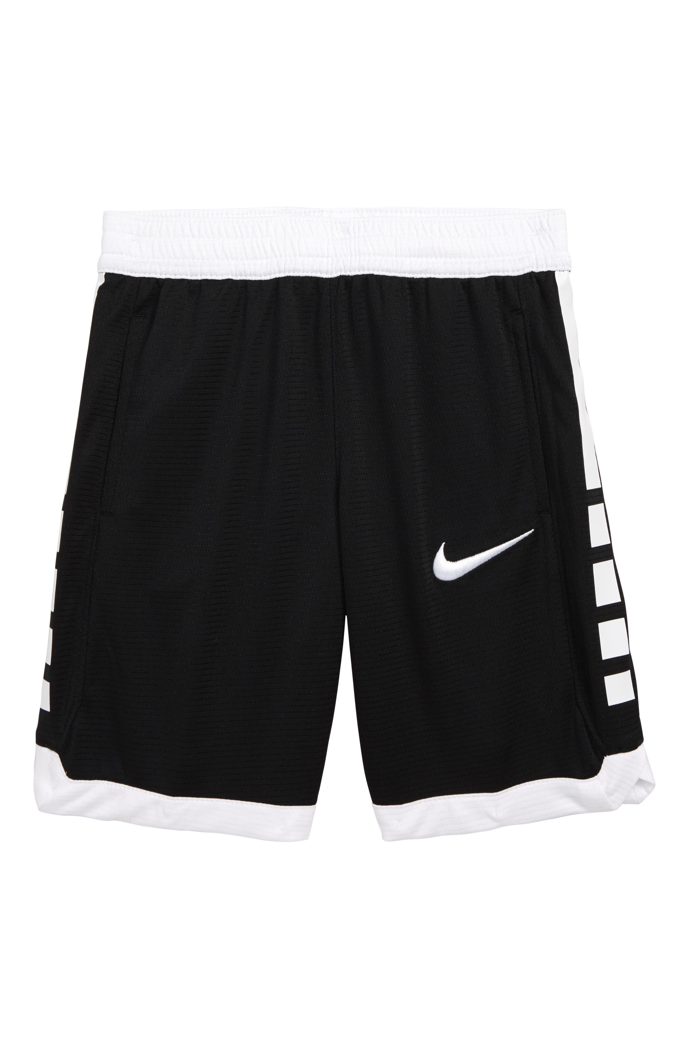 Boys Nike Dry Elite Stripe Athletic Shorts Size 7  Black