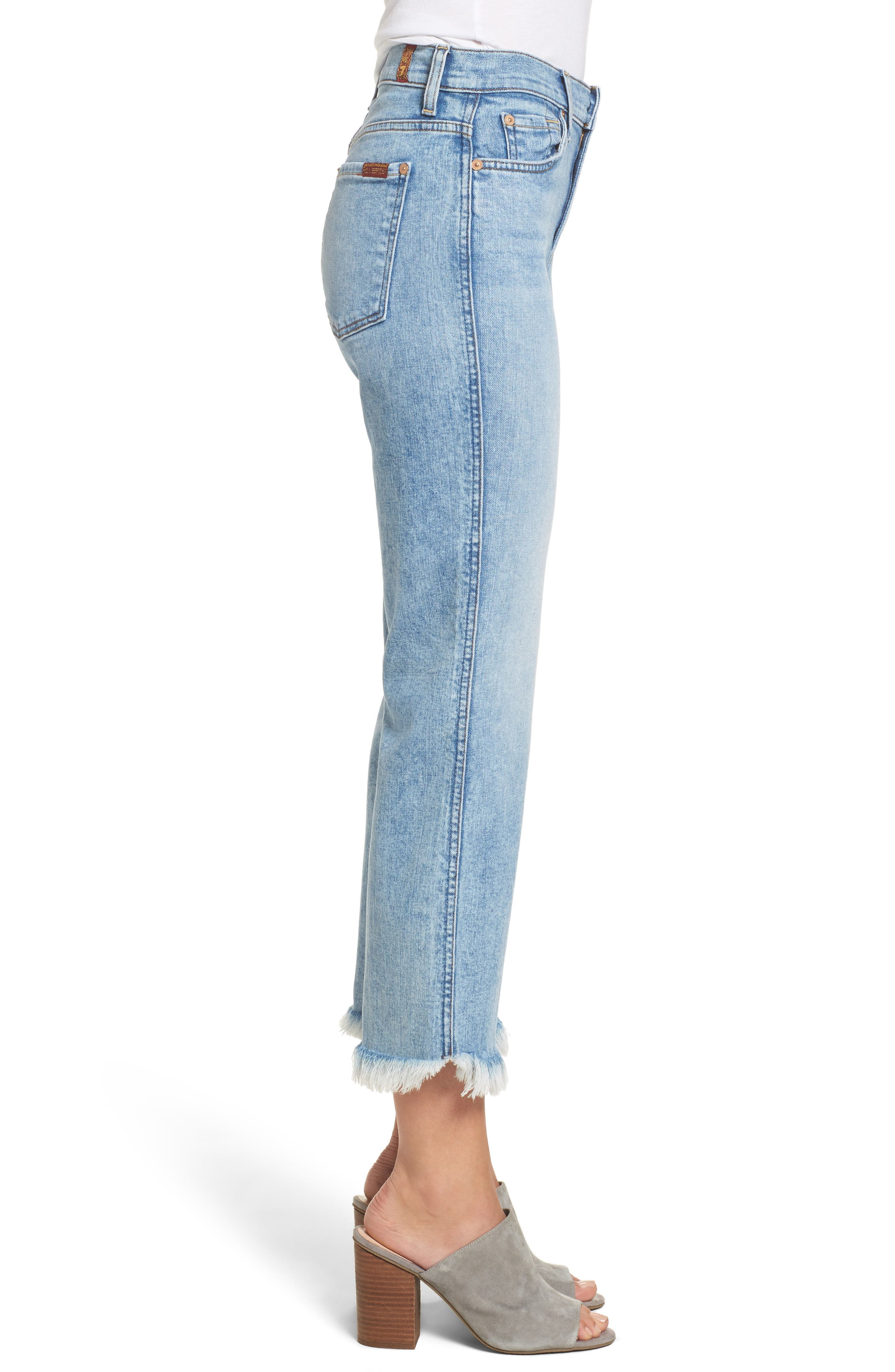 Ali High Waist Crop Flare Leg Jeans,                             Alternate thumbnail 3, color,                             RADIANT WYTHE